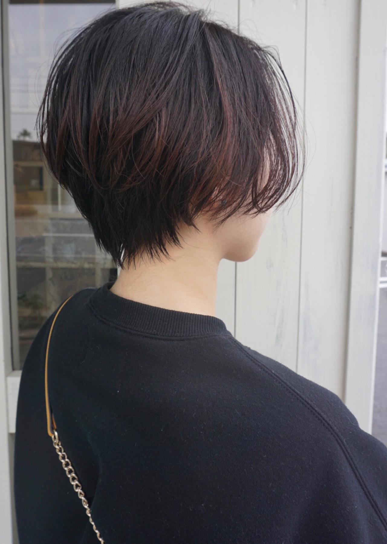 小顔ショート ナチュラル ショート ゆる巻き ヘアスタイルや髪型の写真・画像 | asaka / 583koyomi