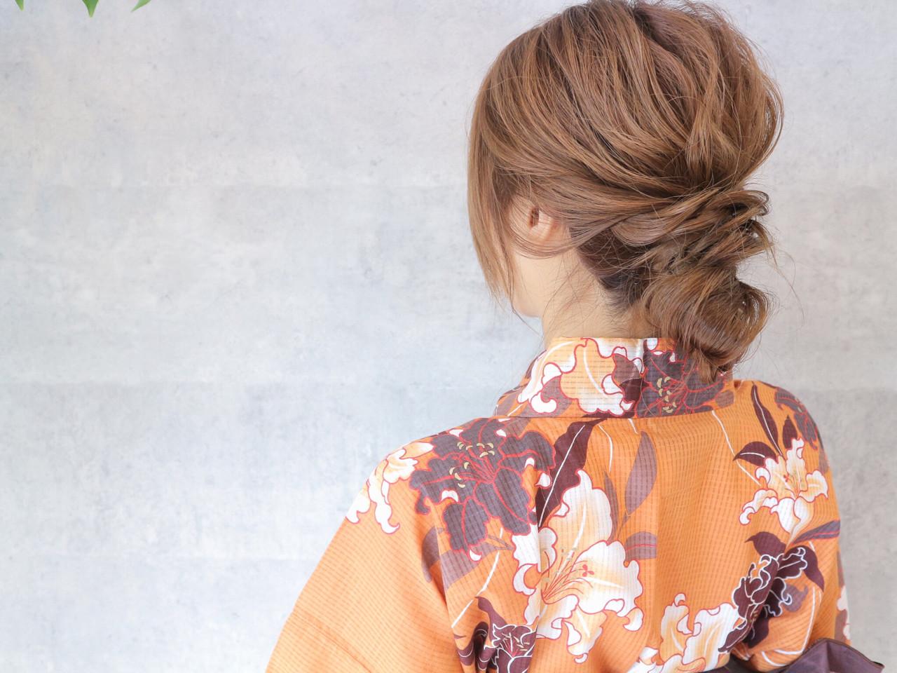 涼しげ 花火大会 夏 色気 ヘアスタイルや髪型の写真・画像