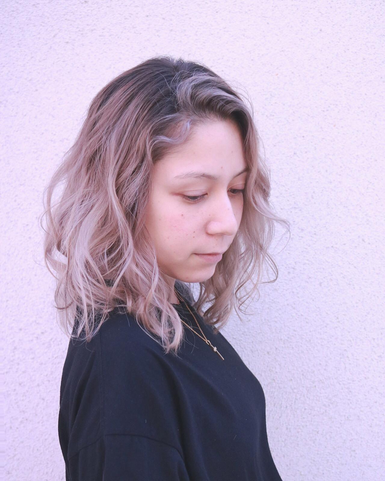 ボブ ナチュラル 透明感 グレージュ ヘアスタイルや髪型の写真・画像 | RUMINA //高田ゆみこ / Rumina