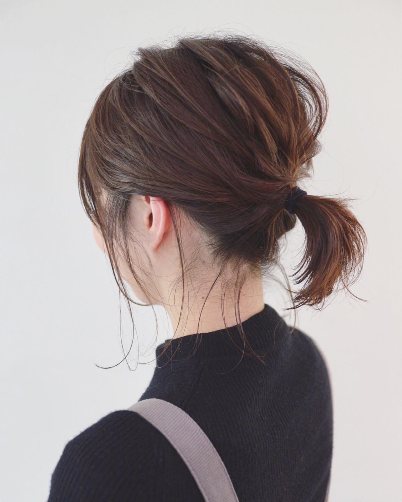 ヘアアレンジ ボブアレンジ ナチュラル 簡単ヘアアレンジ ヘアスタイルや髪型の写真・画像 | 三好 佳奈美 / Baco.(バコ)