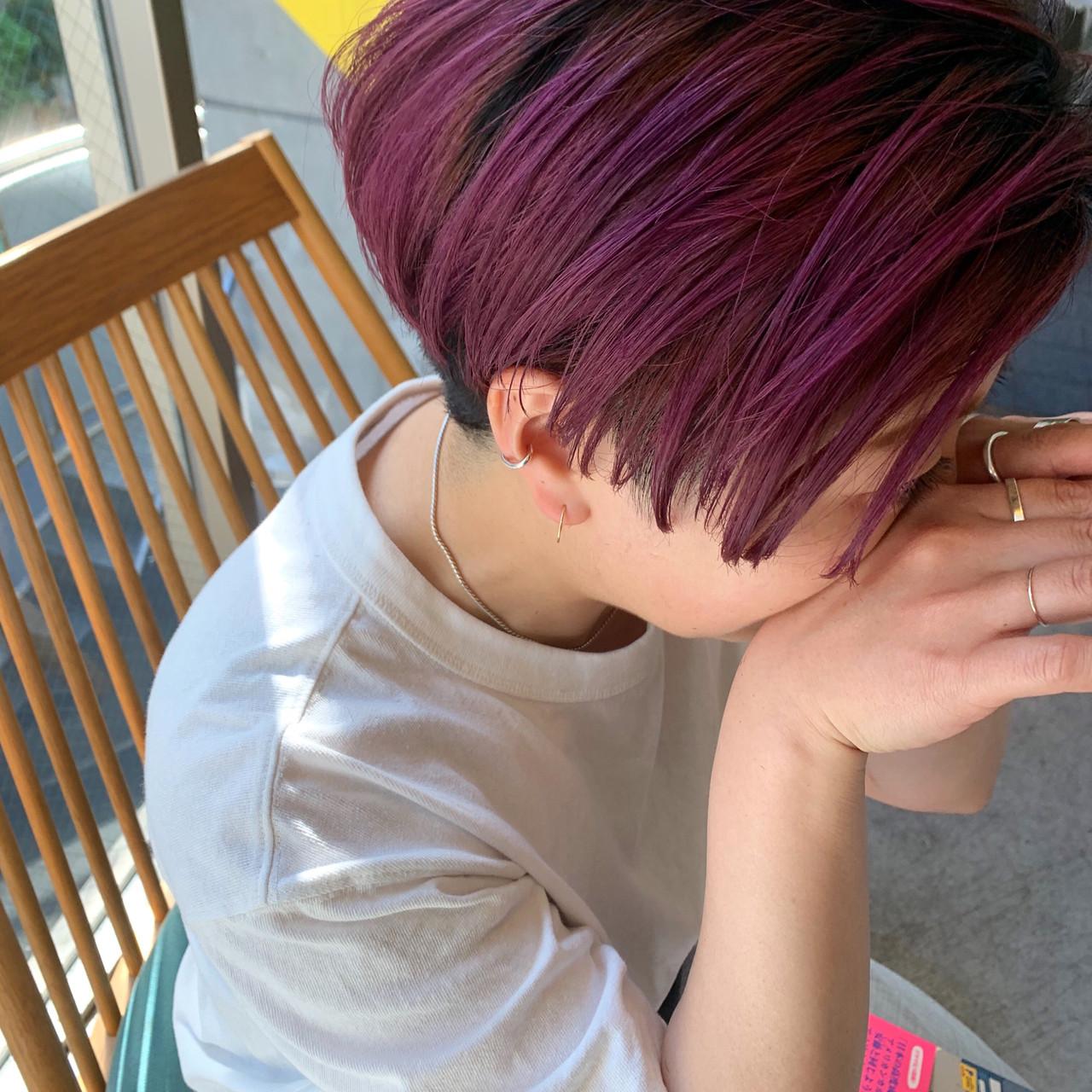 パーマ デート ショート ヘアアレンジ ヘアスタイルや髪型の写真・画像