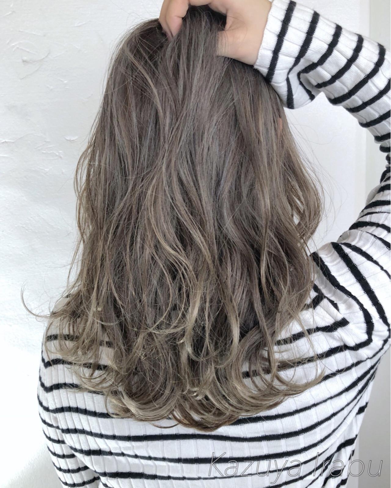 外国人風カラー ロング ゆるふわ ガーリー ヘアスタイルや髪型の写真・画像   Kazuya Irabu / アービング