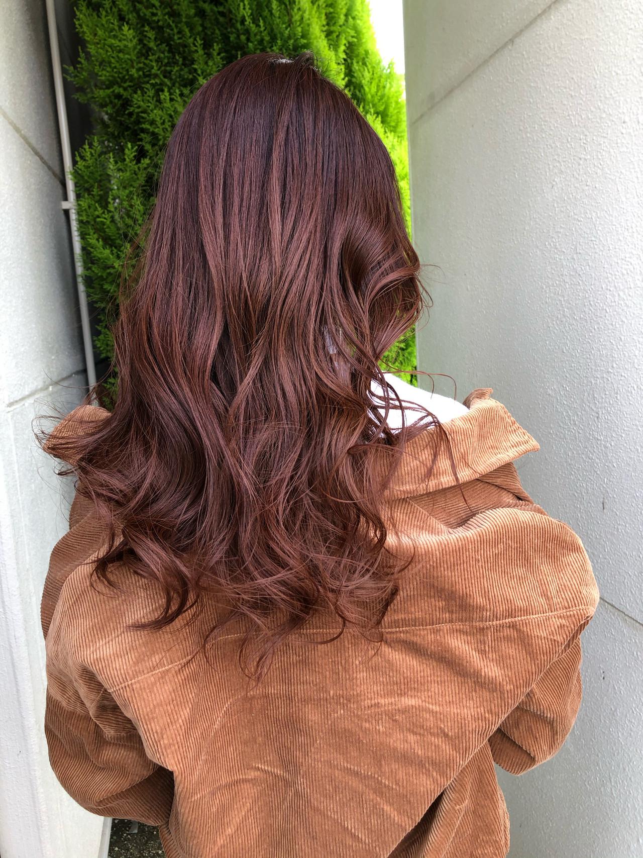 ロング インナーカラー オレンジカラー 大人ロング ヘアスタイルや髪型の写真・画像 | 佐藤タカヒロ / Gritter