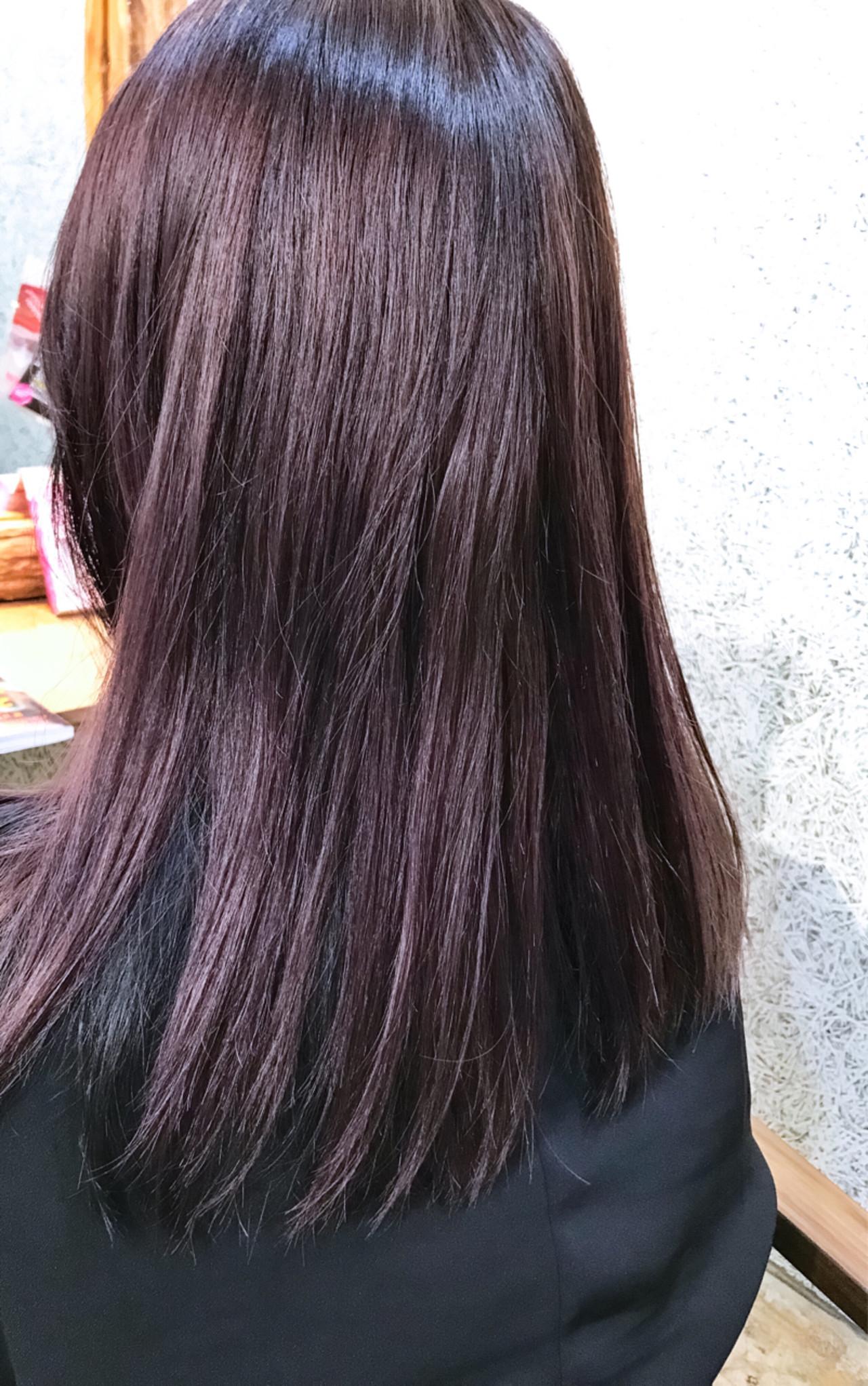 ロング ラベンダーアッシュ ラベンダー パープル ヘアスタイルや髪型の写真・画像 | マキシヤスアキ / KURAKU