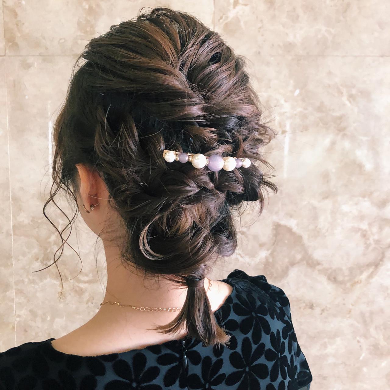 結婚式ヘアアレンジ 結婚式 ボブ ヘアアレンジ ヘアスタイルや髪型の写真・画像