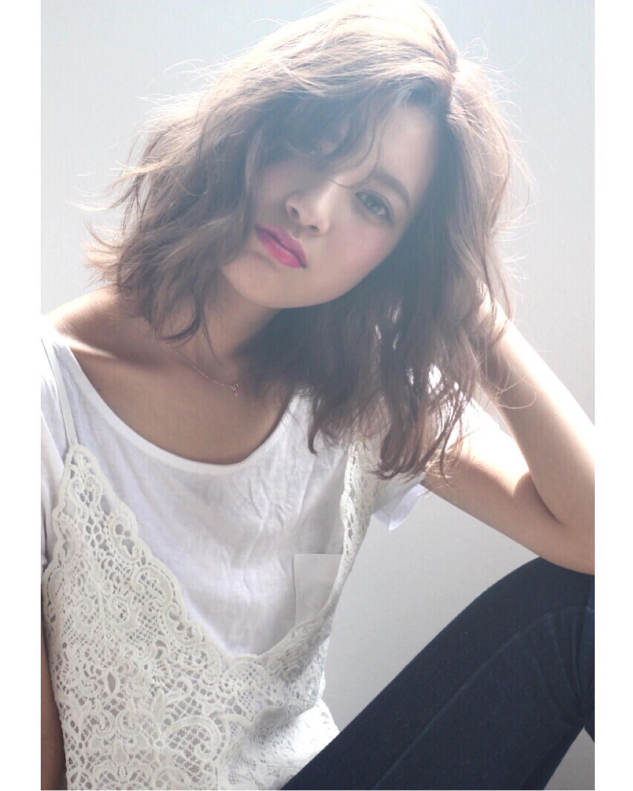 ゆるふわ 前髪あり 外国人風 ストリート ヘアスタイルや髪型の写真・画像