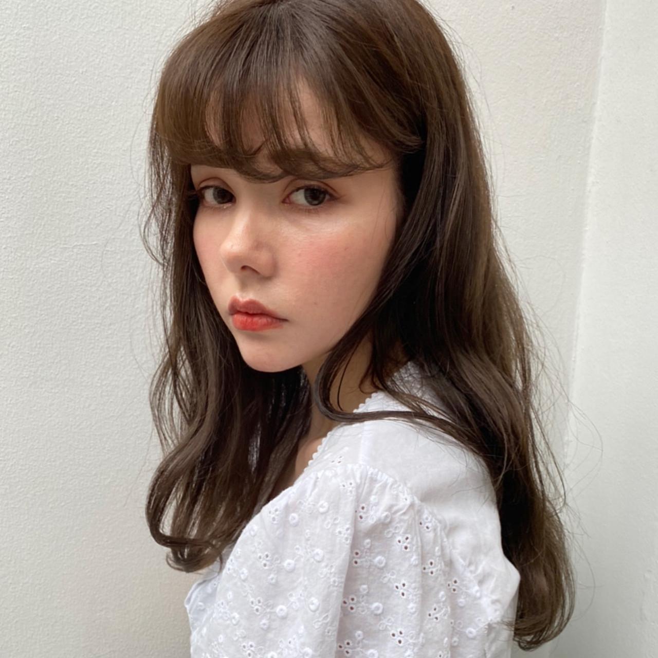 ゆるふわパーマ ニュアンスパーマ ロング パーマ ヘアスタイルや髪型の写真・画像