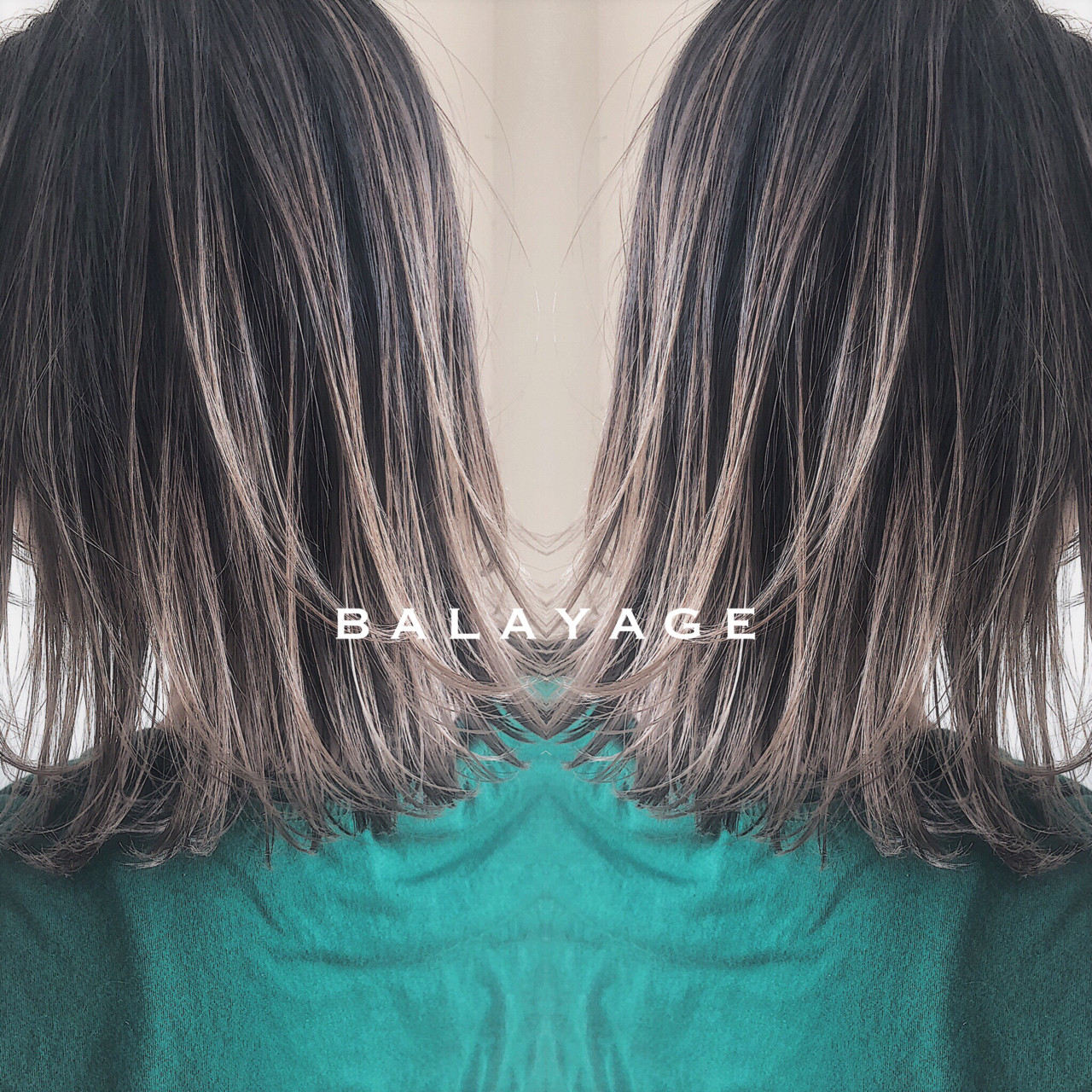 エレガント ミディアム 上品 バレイヤージュ ヘアスタイルや髪型の写真・画像