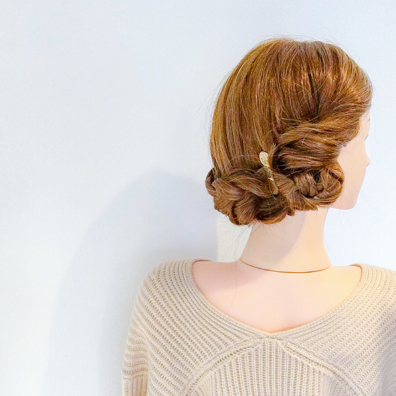 ヘアアレンジ 簡単ヘアアレンジ フェミニン セミロング ヘアスタイルや髪型の写真・画像