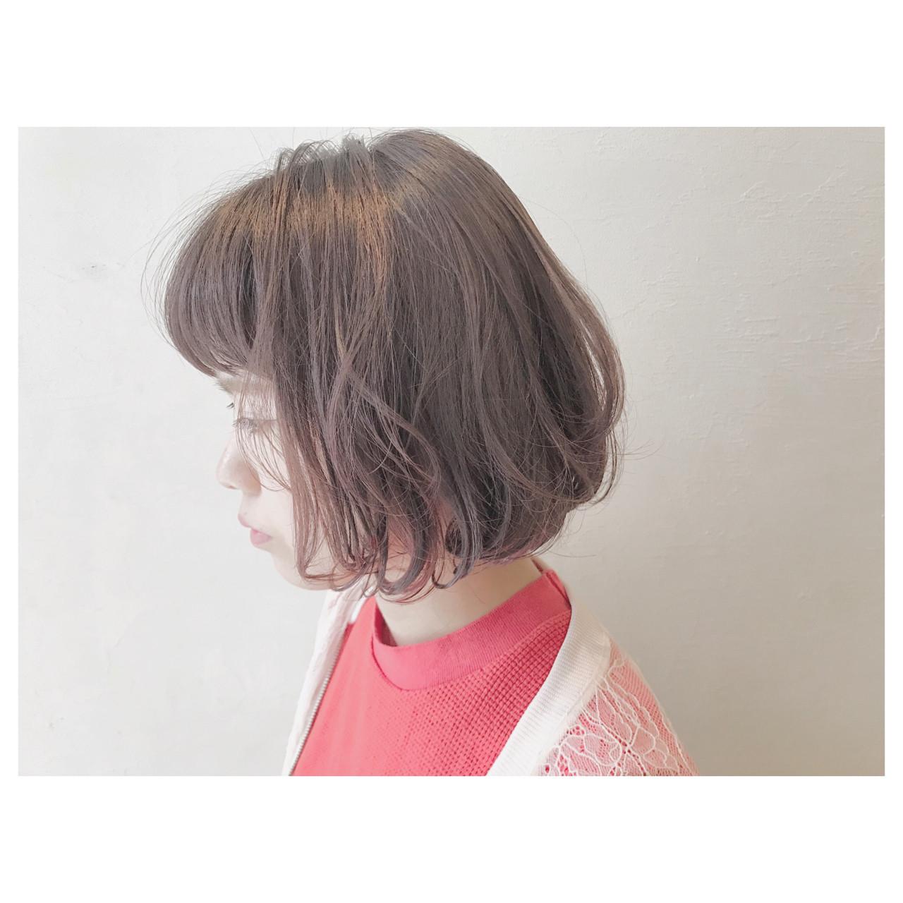 ピンク ウェーブ ストリート ゆるふわ ヘアスタイルや髪型の写真・画像