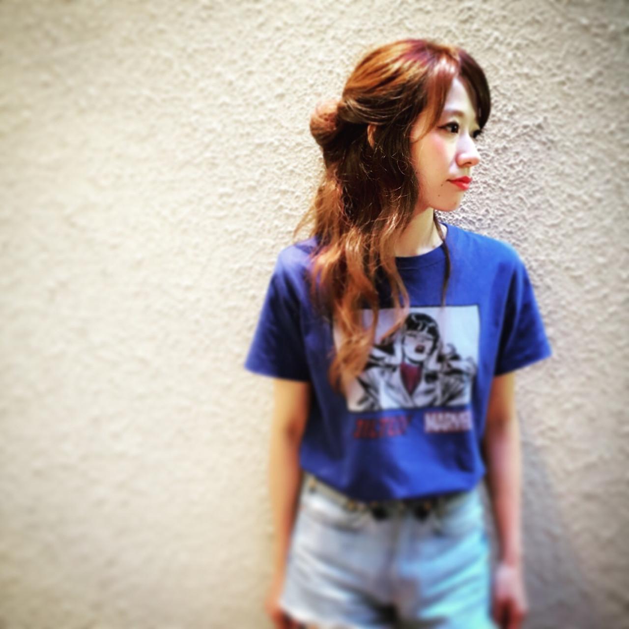 外国人風 ストリート ヘアアレンジ ゆるふわ ヘアスタイルや髪型の写真・画像 | sachibo /