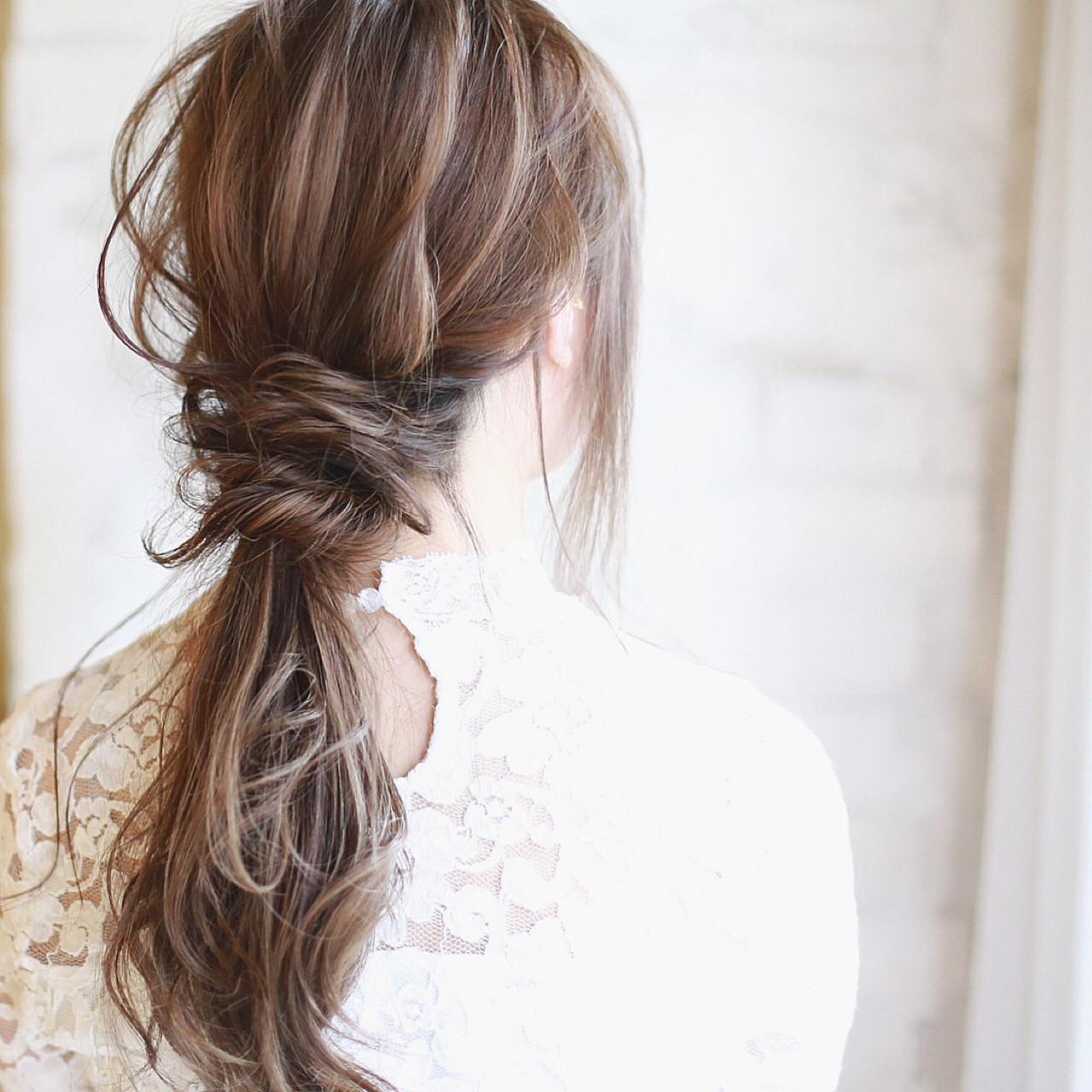 結婚式 パーティ フェミニン ヘアアレンジ ヘアスタイルや髪型の写真・画像   廣田哲也 / nalu hair