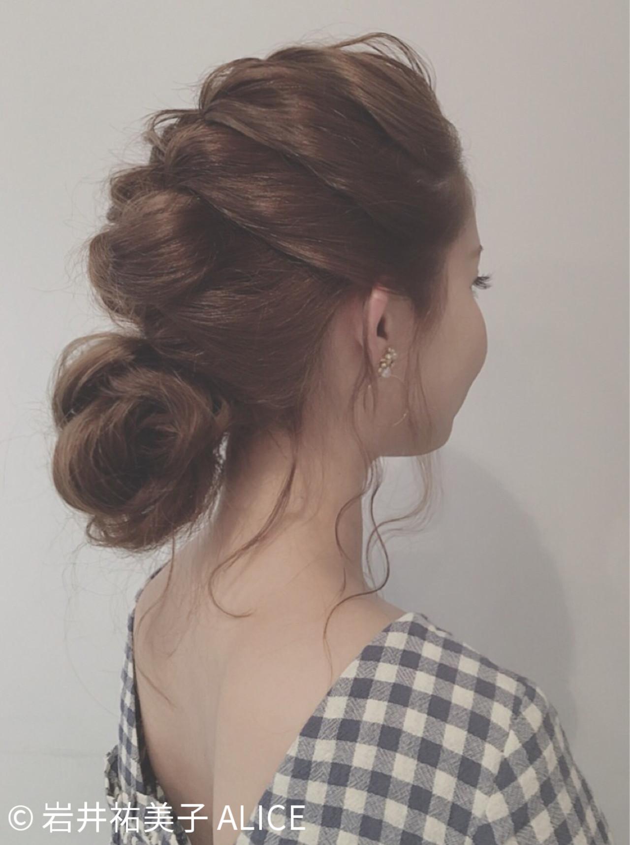 結婚式 お団子 ヘアアレンジ ショート ヘアスタイルや髪型の写真・画像 | 岩井祐美子 ALICE / Alice