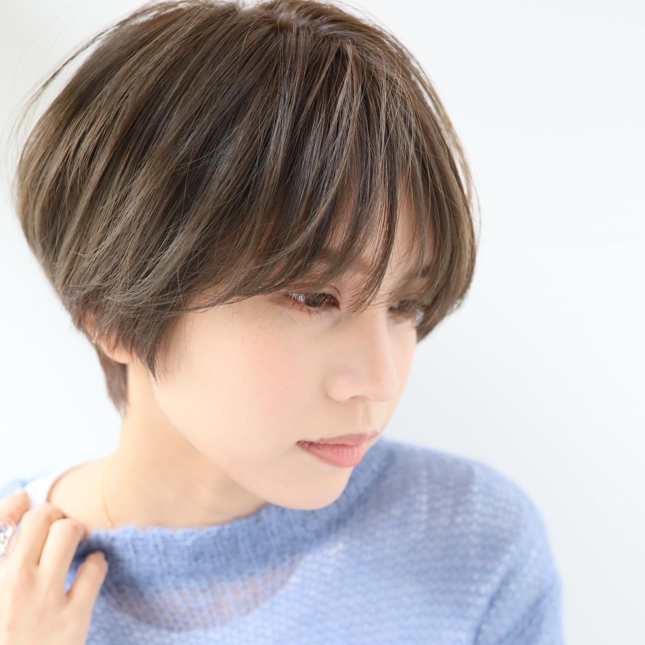 ナチュラル 大人女子 ショート 外国人風カラー ヘアスタイルや髪型の写真・画像 | 田中 秀樹 / gallaria elegante 名駅