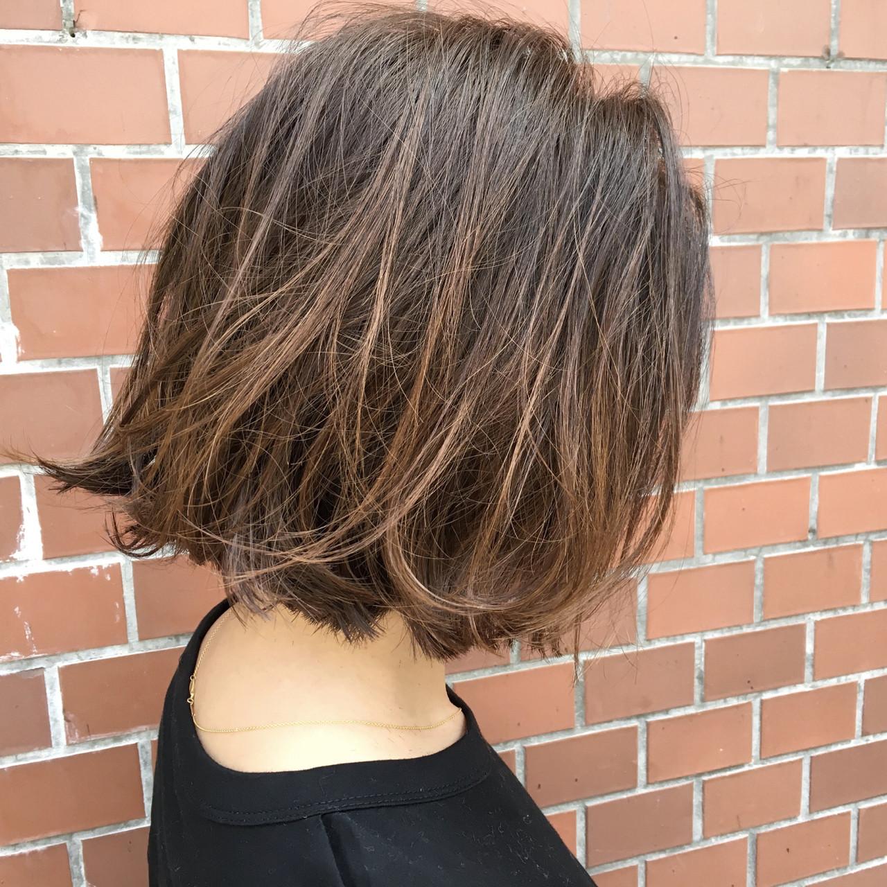 グラデーションカラー ボブ ハイライト 外国人風 ヘアスタイルや髪型の写真・画像 | 杉谷 将也 / DiLL / DiLL