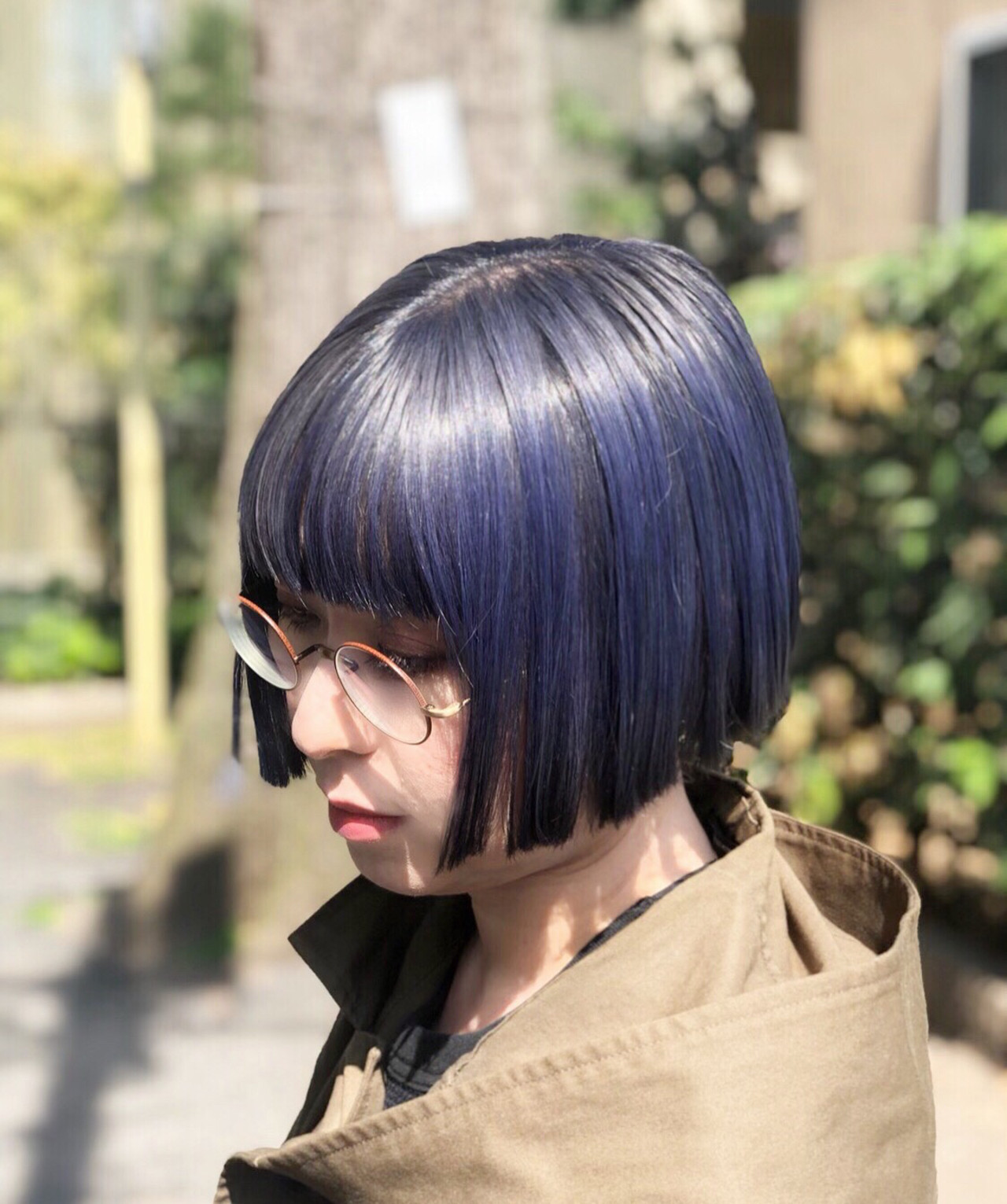 ボブ ナチュラル ユニコーンカラー インナーカラー ヘアスタイルや髪型の写真・画像