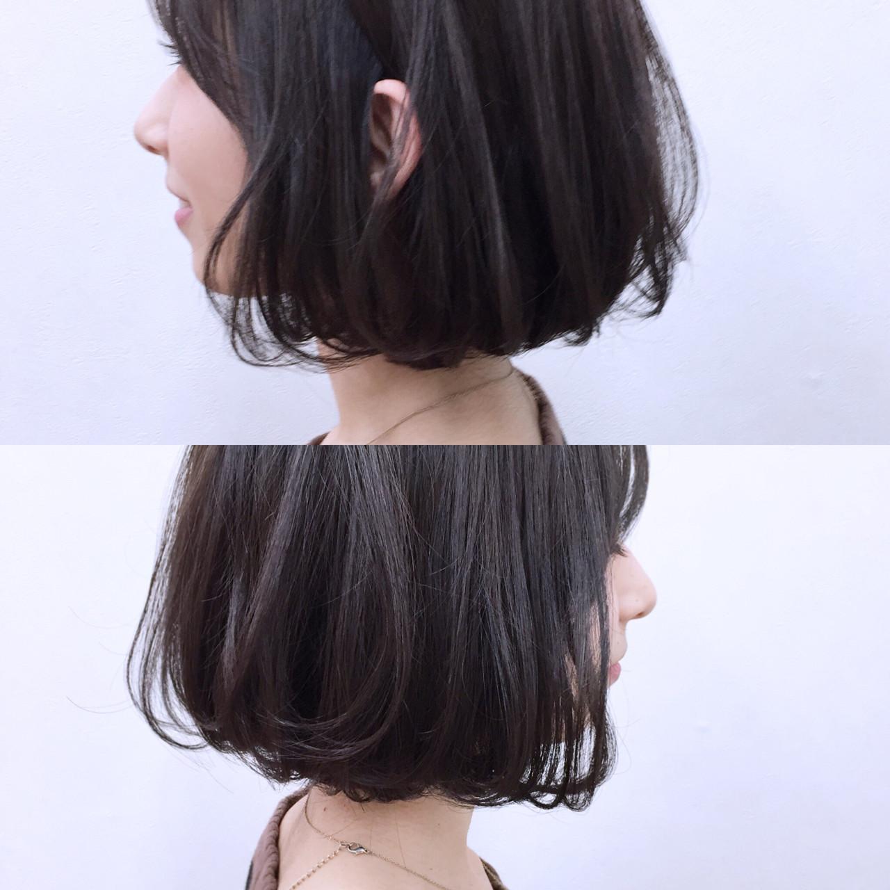 暗髪 ナチュラル 色気 フェミニン ヘアスタイルや髪型の写真・画像