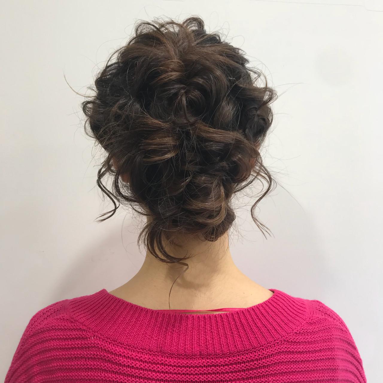 愛され 簡単ヘアアレンジ ミディアム ナチュラル ヘアスタイルや髪型の写真・画像