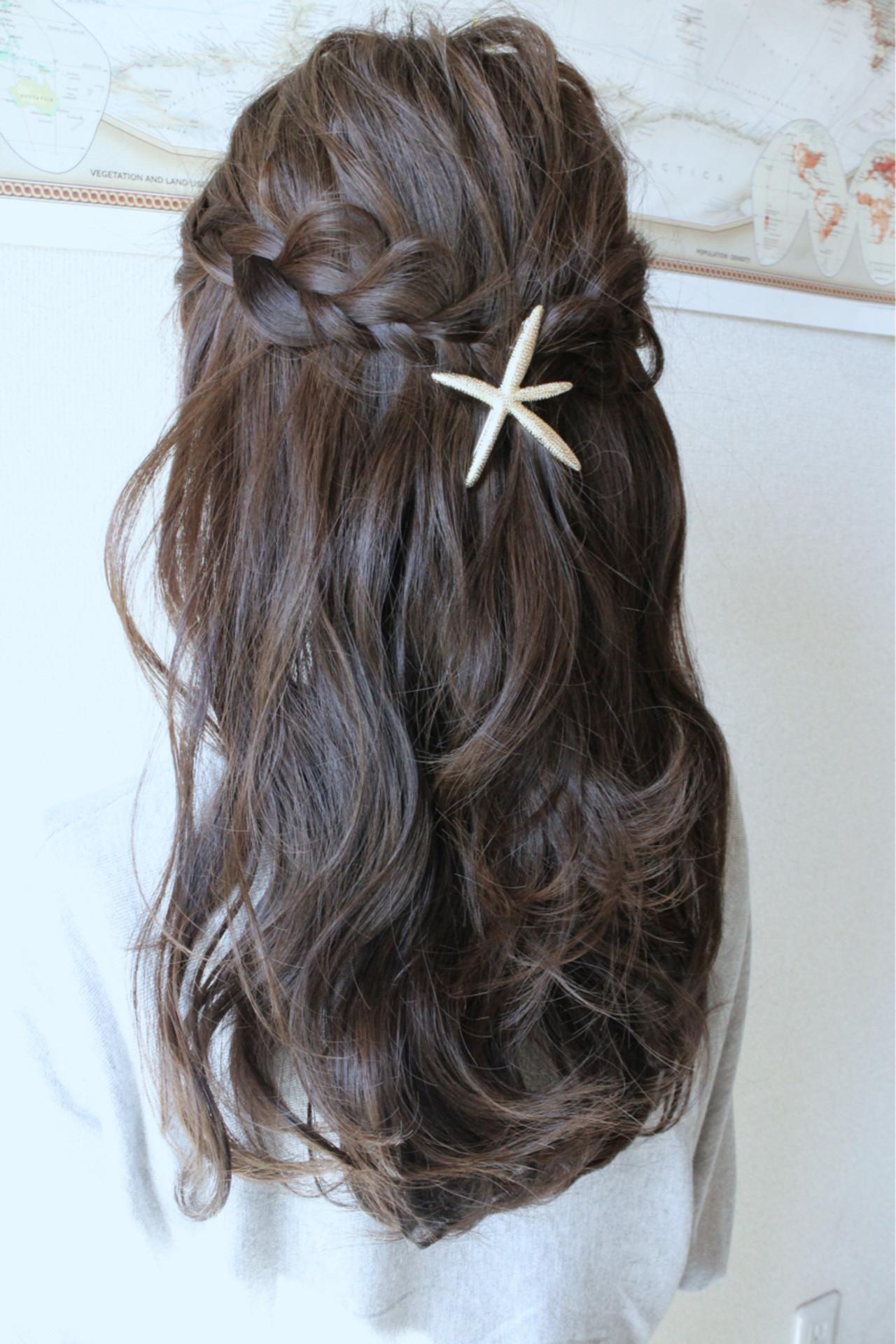 三つ編み 波ウェーブ かわいい ヘアアレンジ ヘアスタイルや髪型の写真・画像 | サグチ ユウタ / HAIR LUZ