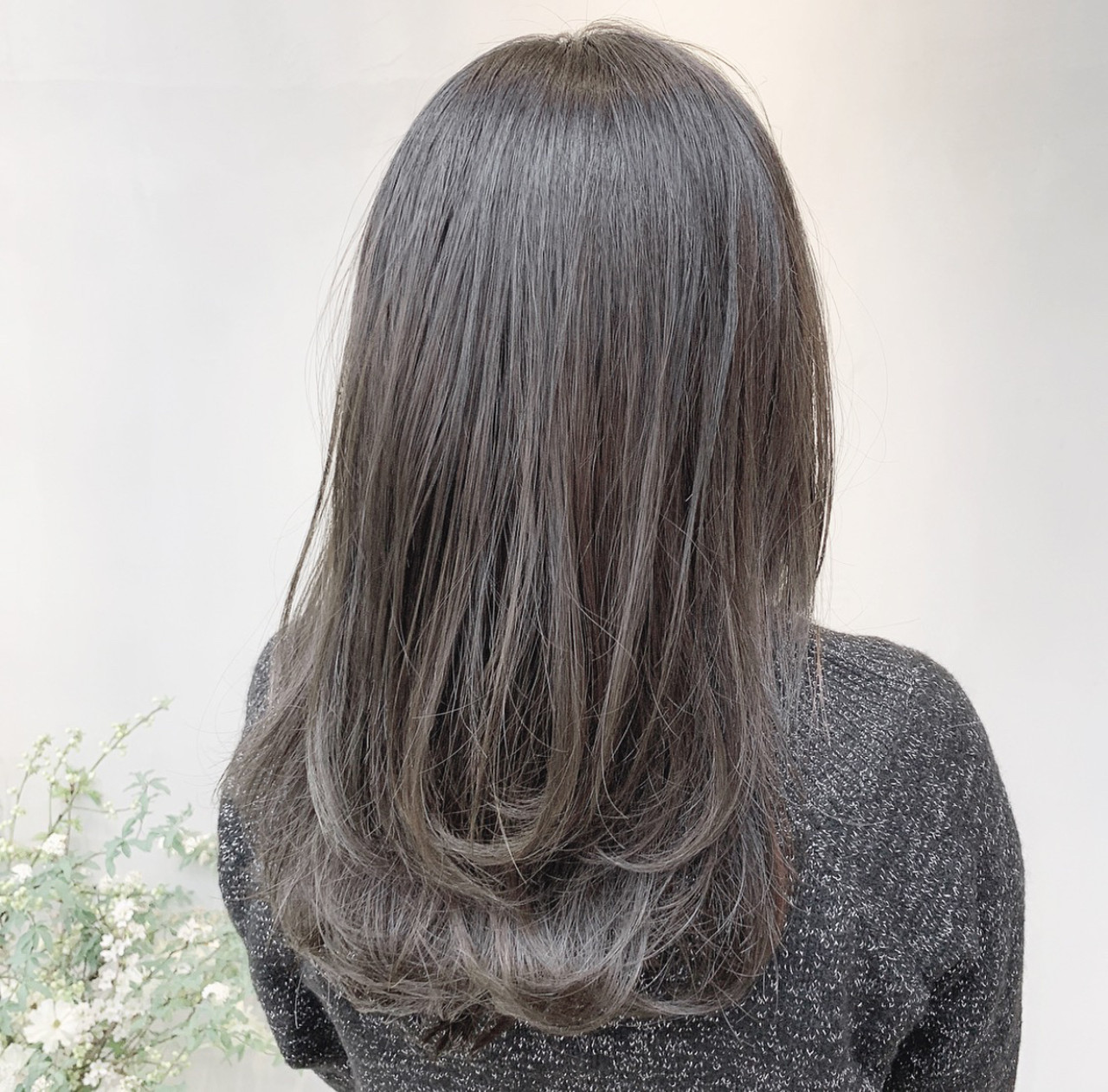 外国人風カラー ブルージュ 透明感カラー グレージュ ヘアスタイルや髪型の写真・画像