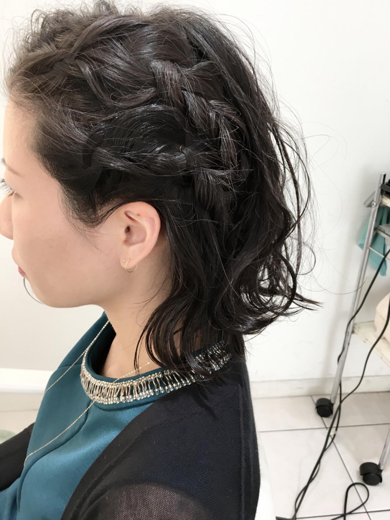 ハーフアップ 簡単ヘアアレンジ ヘアアレンジ 三つ編み ヘアスタイルや髪型の写真・画像 | 石田裕紀 / Baroque 立川 newtonグループ