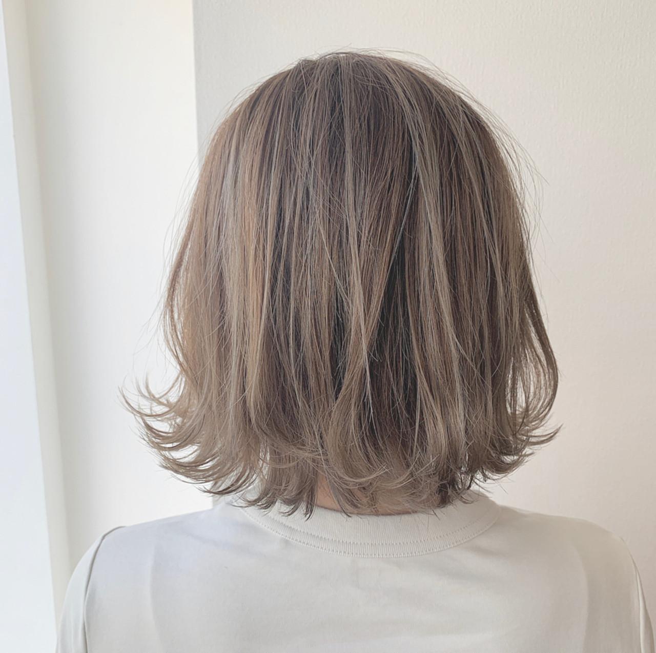 ボブ モテボブ 透明感カラー ナチュラル ヘアスタイルや髪型の写真・画像 | 透明感セミロング/Hiroyuki_Kihara / Direction