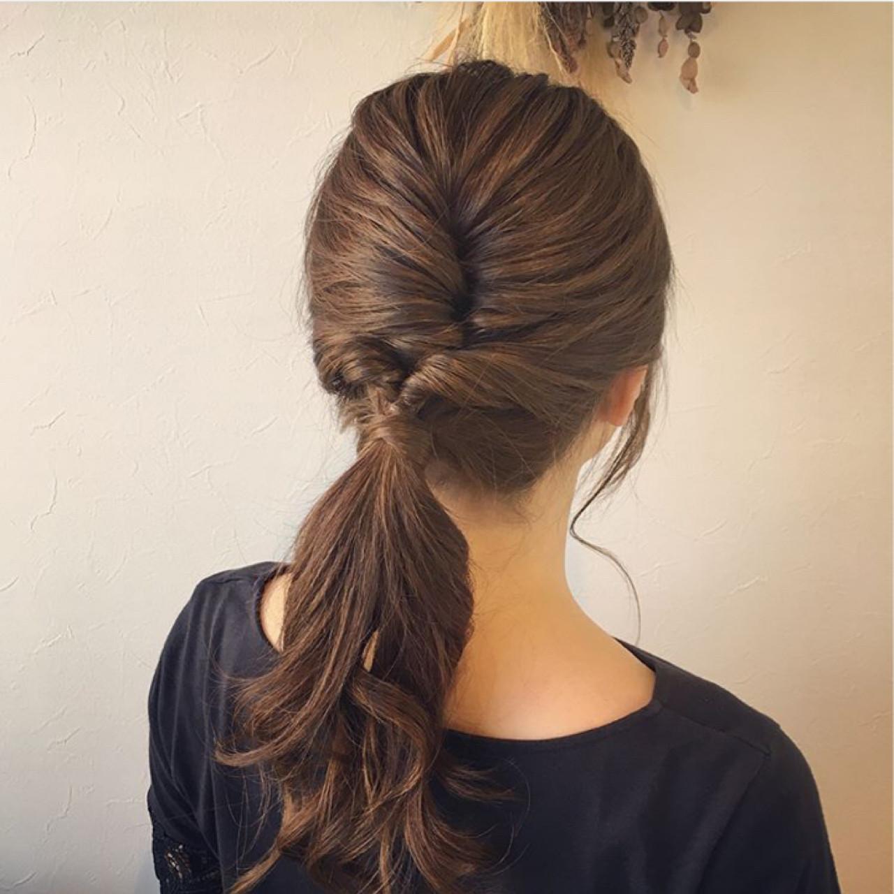リラックス ロング 女子会 簡単ヘアアレンジ ヘアスタイルや髪型の写真・画像 | 平野ちなみ / Petit chou chou