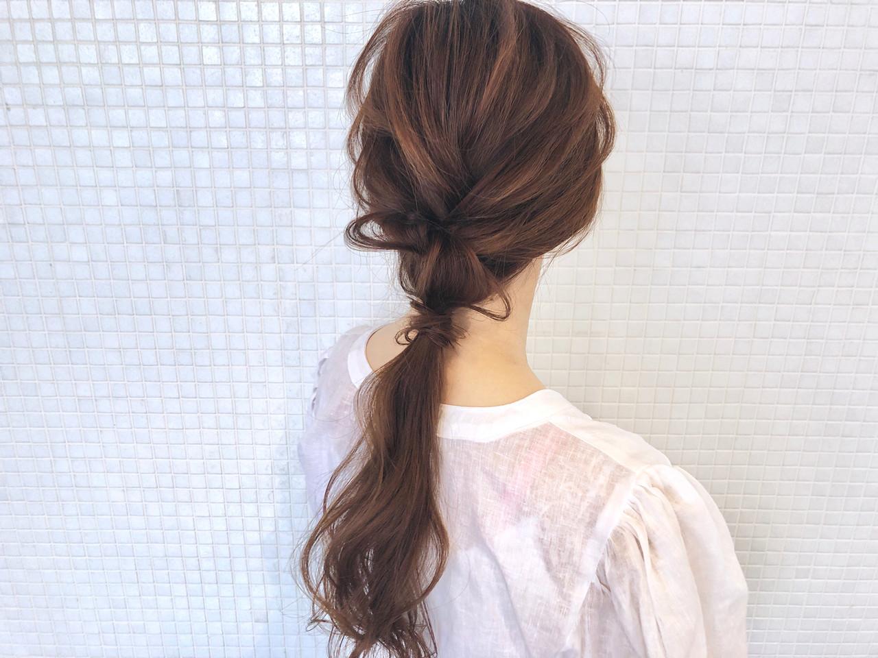 ポニーテール 簡単ヘアアレンジ ヘアアレンジ ロング ヘアスタイルや髪型の写真・画像 | takashi cawamura / HAIR & MAKE•UP TAXI