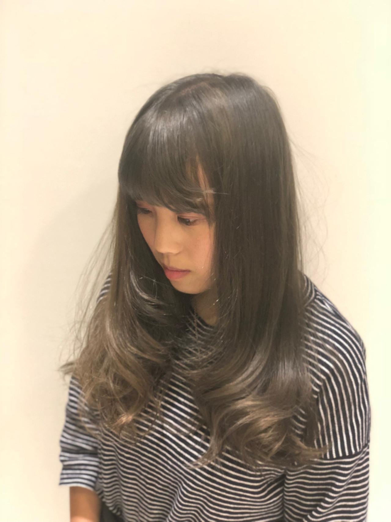 ナチュラル 暗髪 セミロング ヘアアレンジ ヘアスタイルや髪型の写真・画像