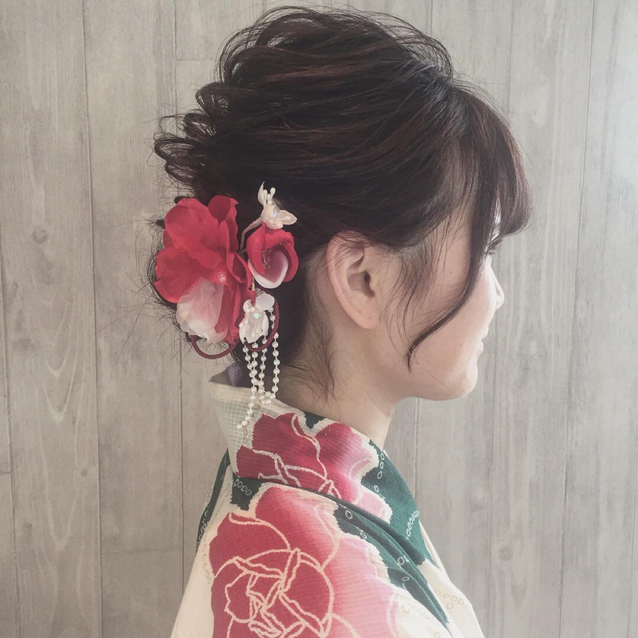 ガーリー 夏 お祭り 色気 ヘアスタイルや髪型の写真・画像 | 宮田 恵里香 / igloo