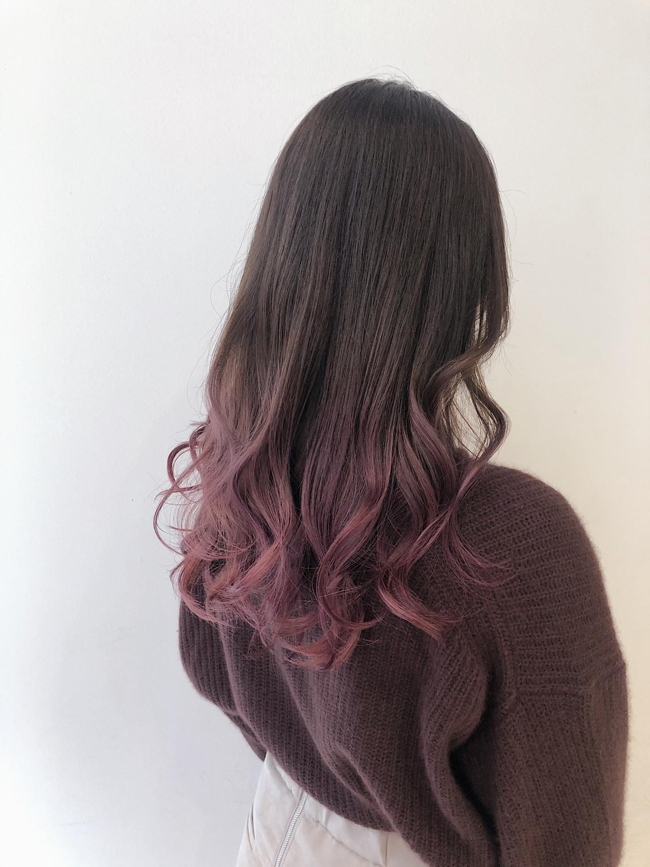 ピンクラベンダー ラベンダーピンク ロング ピンク ヘアスタイルや髪型の写真・画像 | ryota 【ALIVE harajuku】 / ALIVE harajuku