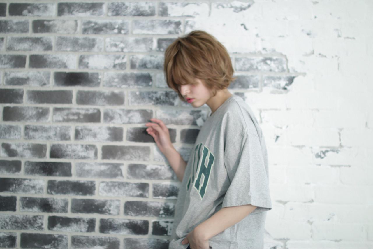 外国人風 ストリート ショートボブ ニュアンス ヘアスタイルや髪型の写真・画像