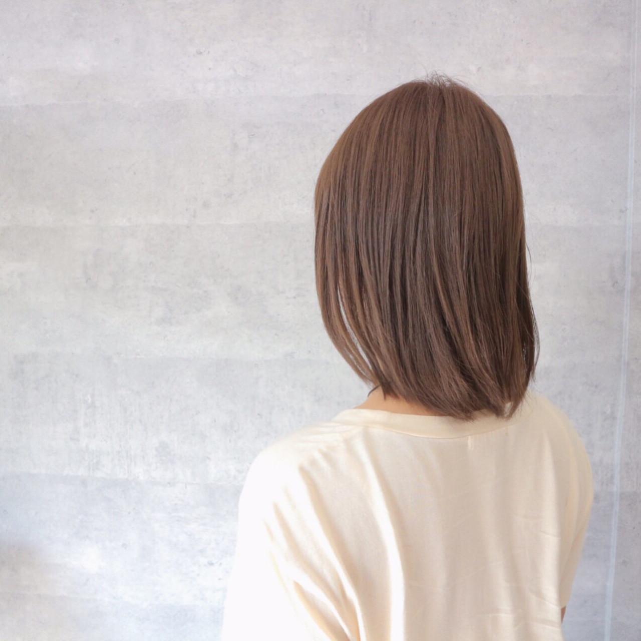 艶髪 爽やか オフィス ネイビー ヘアスタイルや髪型の写真・画像