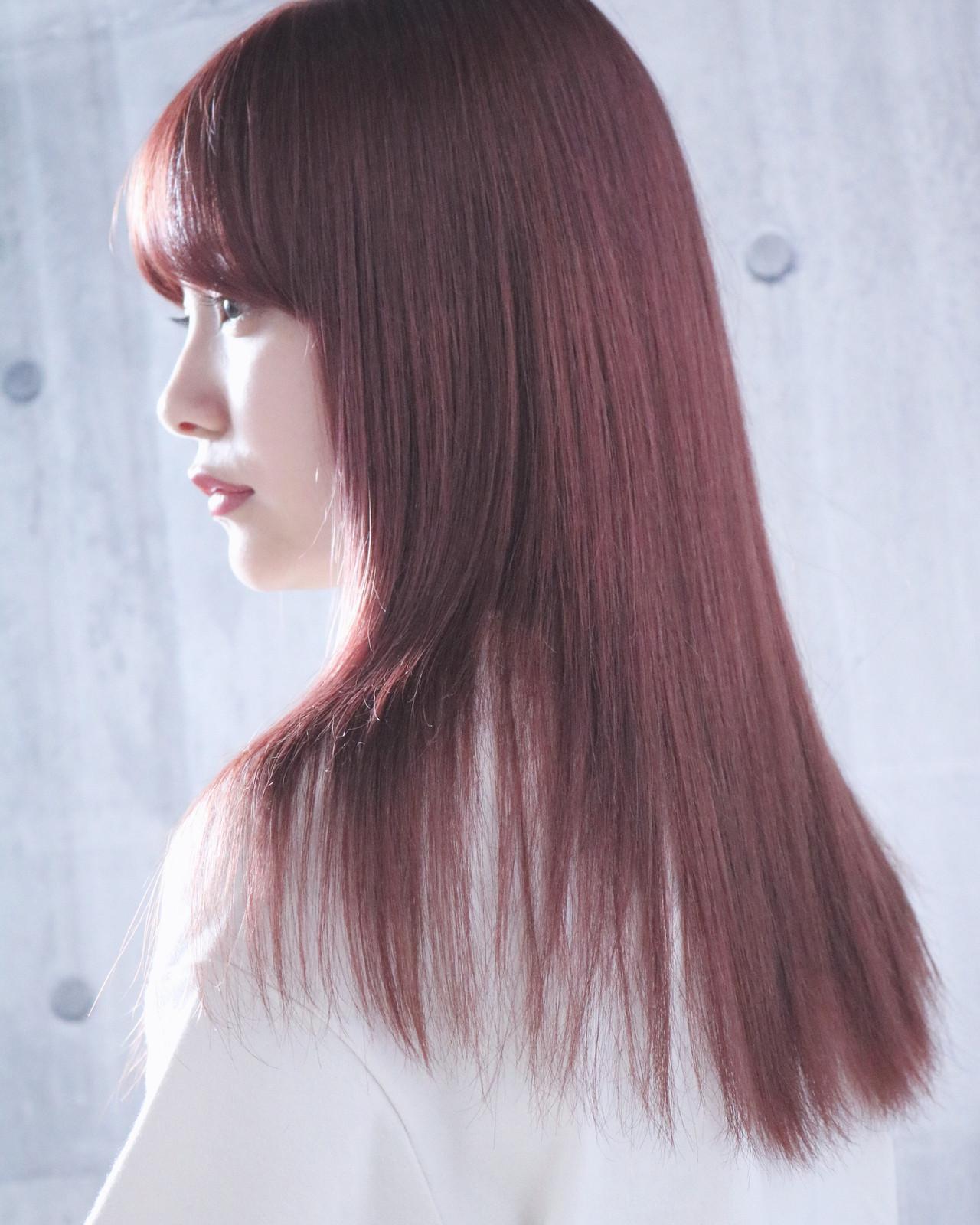 ピンクベージュ ナチュラル ミルクティーグレージュ ロング ヘアスタイルや髪型の写真・画像