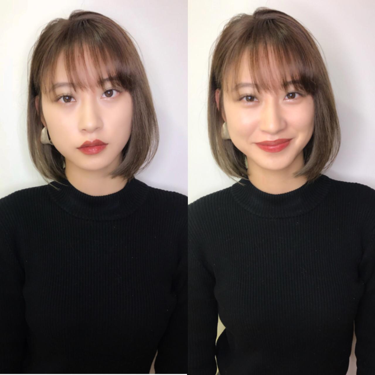 #シースルーバング×#ベージュカラー#ボブ . #ビフォーアフター @yui_popino いつもありがとうございます? .  今回は前髪を作りました!!✴️ . . カラーは#グレージュに!!? .  長年ヘアスタイルの研究をしているからこそ!お客様に提案出来ます!✨ . . . . ?簡単にヘアスタイリングを再現できる! ?持ちの良いカットテクニック ?扱いやすくなった ?周りからオシャレなヘアと褒められる など! ⭐️ヘアスタイルもファッションです!⭐️ ヘアスタイルでその人の印象の7〜8割が決まると言われています!! 僕は似合わせと、再現性を大切にしています!! オシャレで可愛いいヘアスタイルに必ずさせていただきます! . . .是非一度ご相談ください!! 満足していただける自信有ります❗️ ご予約はdmもしくはプロフィールのリンクのネット予約から! ℡☎️にて! お待ちしております!! トニーアンドガイ恵比寿℡ 03-5724-5820 . . ご予約の際にインスタグラムを見たと伝えて下さると 【初回限定インスタ割20%オフさせていただきます!!】 . cut✂️¥6480→¥5190 color?¥9720→7780 ハイライト?♀️¥5300〜 パーマ?¥10800→8640 ? ? ? ? ?  #テラヤマヨシタカhairまとめ 、 、 、 . . . .  #トニガイ#恵比寿美容室#ヘアカタログ#オシャレヘア#イメチェン#似合わせカット #前髪#前髪カット  #ハイライトカラー#アッシュグレージュ#サロモ#サロンモデル#ハイライト#イルミナカラー#ミィディアム #ロングボブ#アッシュカラー  #スペシャルハイライト #アドミオ #オシャレヘア  #ベージュカラー #透明感カラー #インナーカラー#アッシュ #アッシュグレー