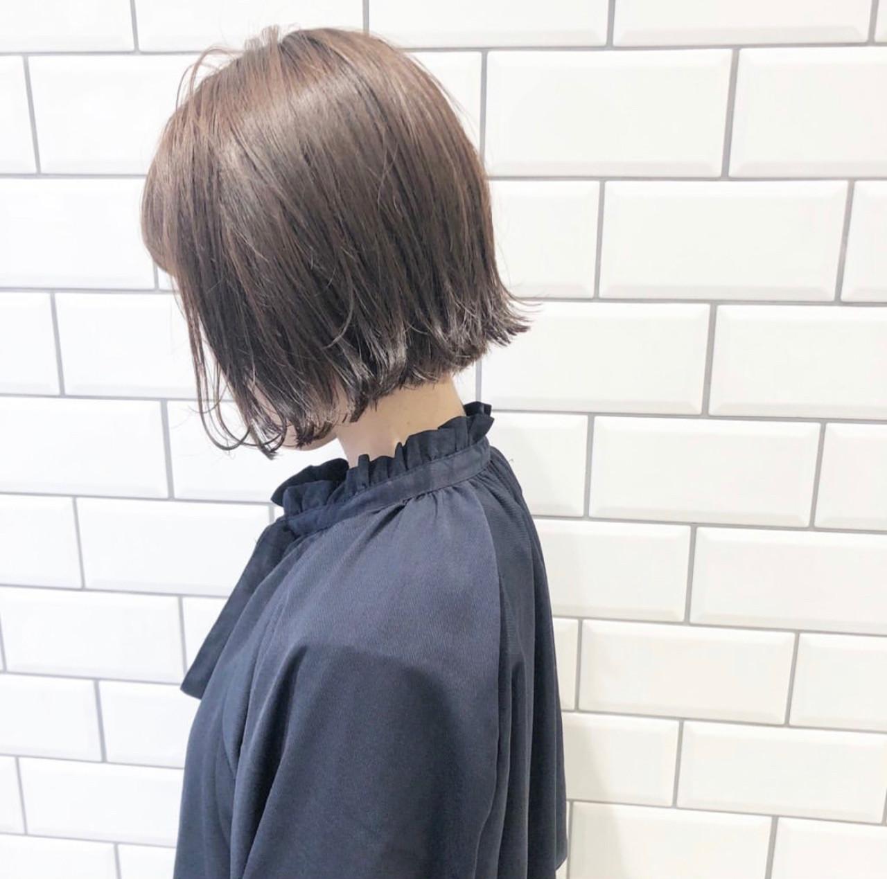 ミニボブ ボブ ベリーショート ナチュラル ヘアスタイルや髪型の写真・画像 | 牧嶋 晃太郎 / LILAS by costes