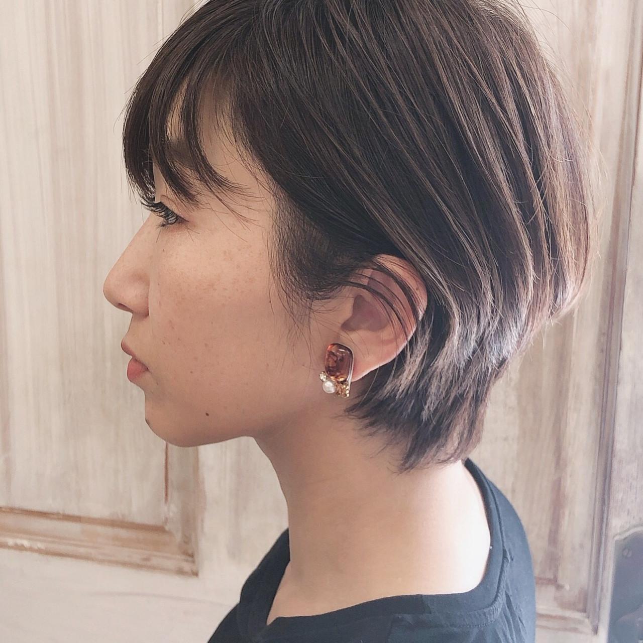 外国人風 ハンサムショート ナチュラル ショート ヘアスタイルや髪型の写真・画像