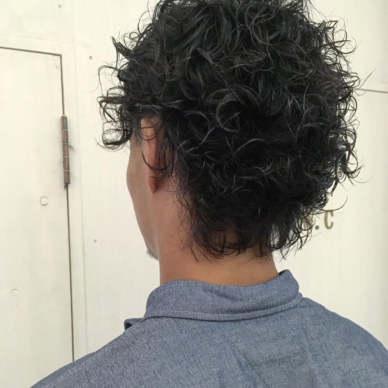 パーマ ボーイッシュ ストリート ショート ヘアスタイルや髪型の写真・画像