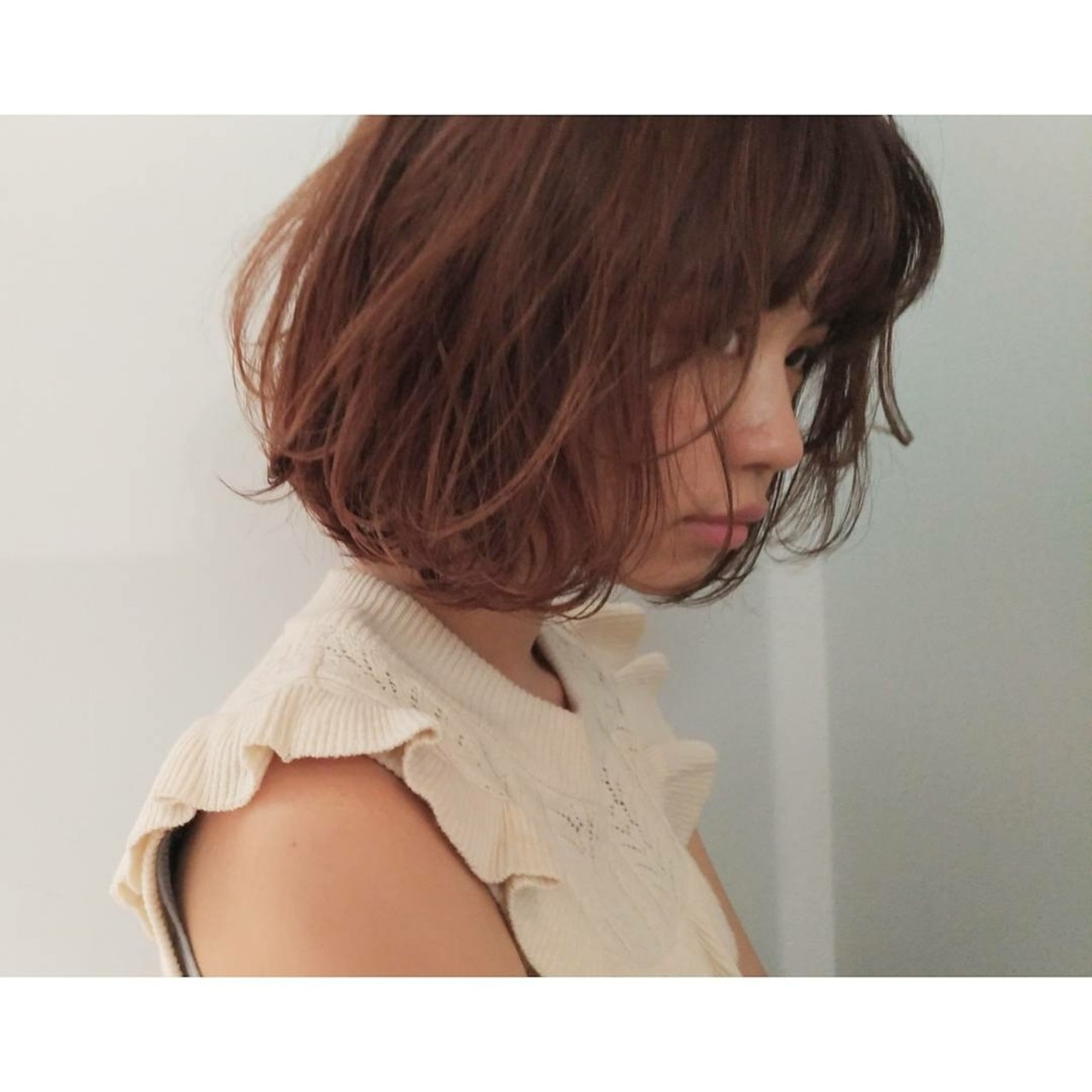 女子会 ボブ ヘアアレンジ パーマ ヘアスタイルや髪型の写真・画像