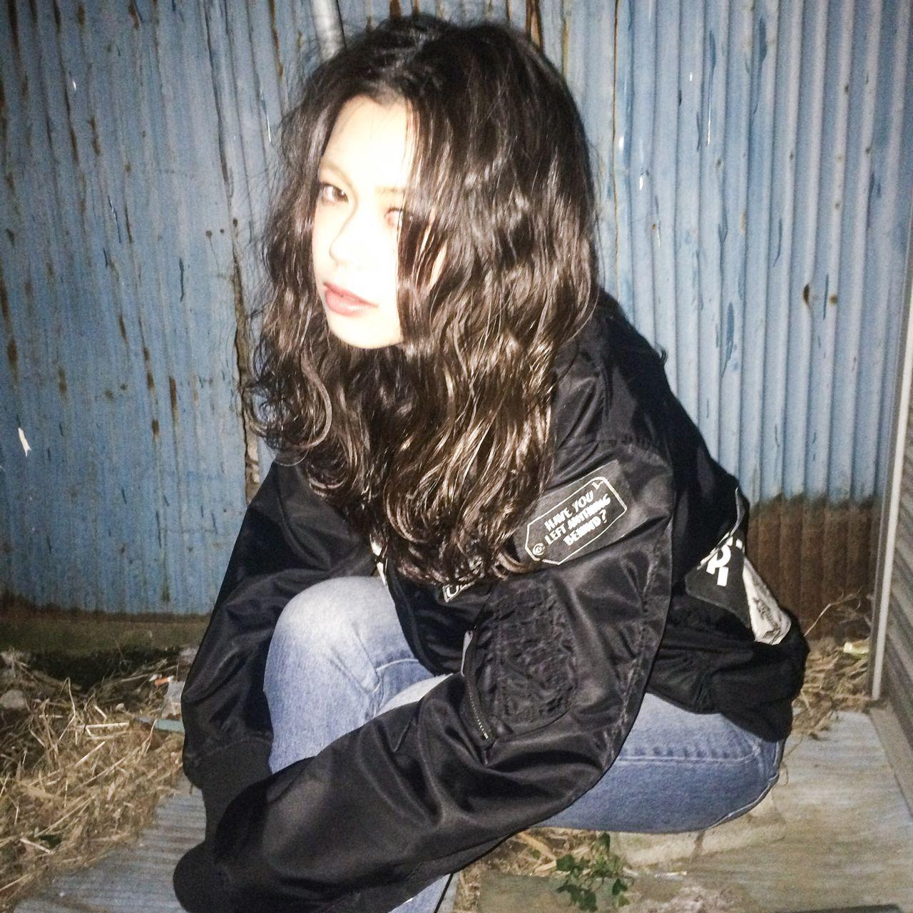 ミディアム ストリート 暗髪 ウェットヘア ヘアスタイルや髪型の写真・画像 | Ryusei Maeda / free