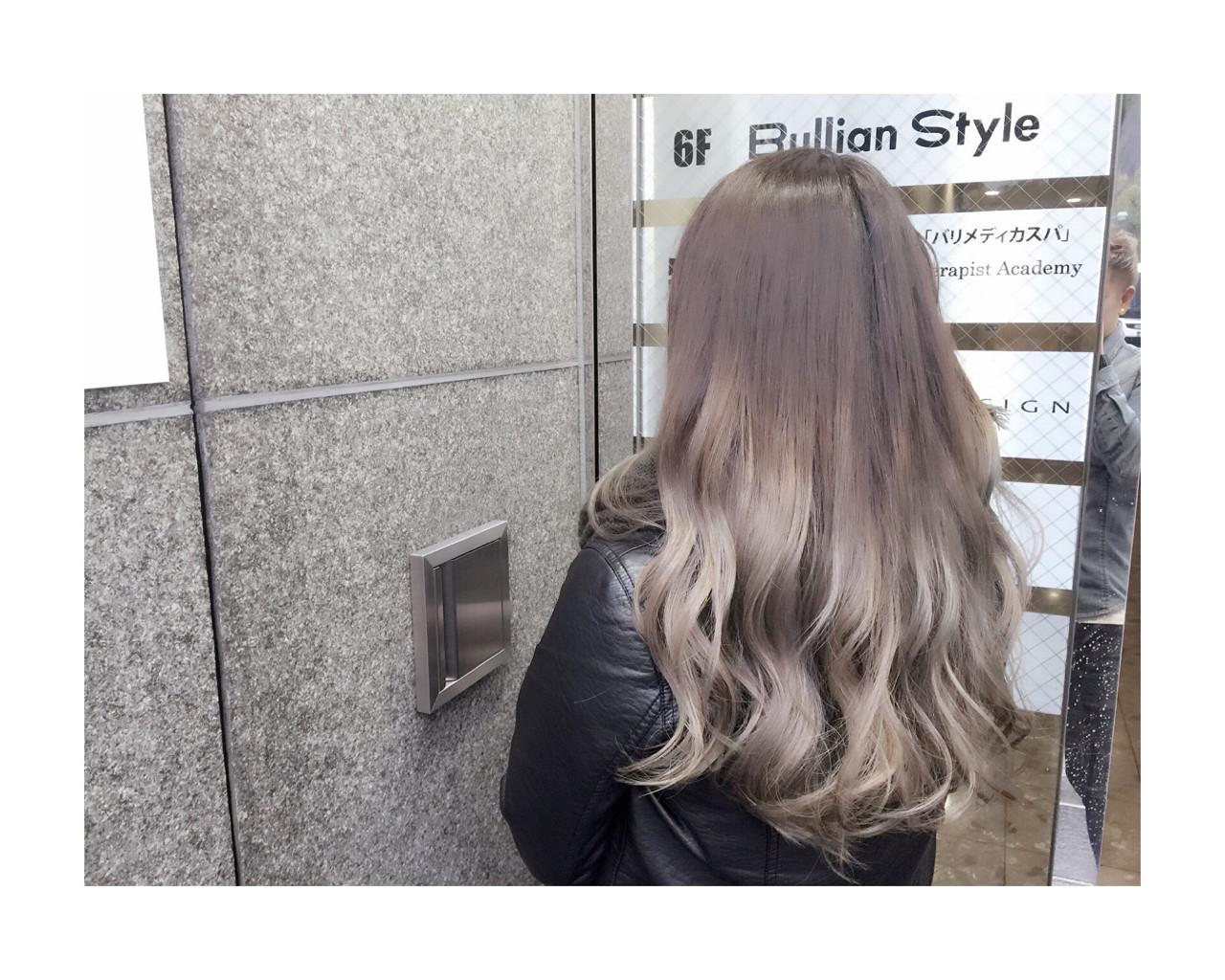 グラデーションカラー 外国人風 アッシュベージュ ストリート ヘアスタイルや髪型の写真・画像 | NORI / LAFUI hair desain
