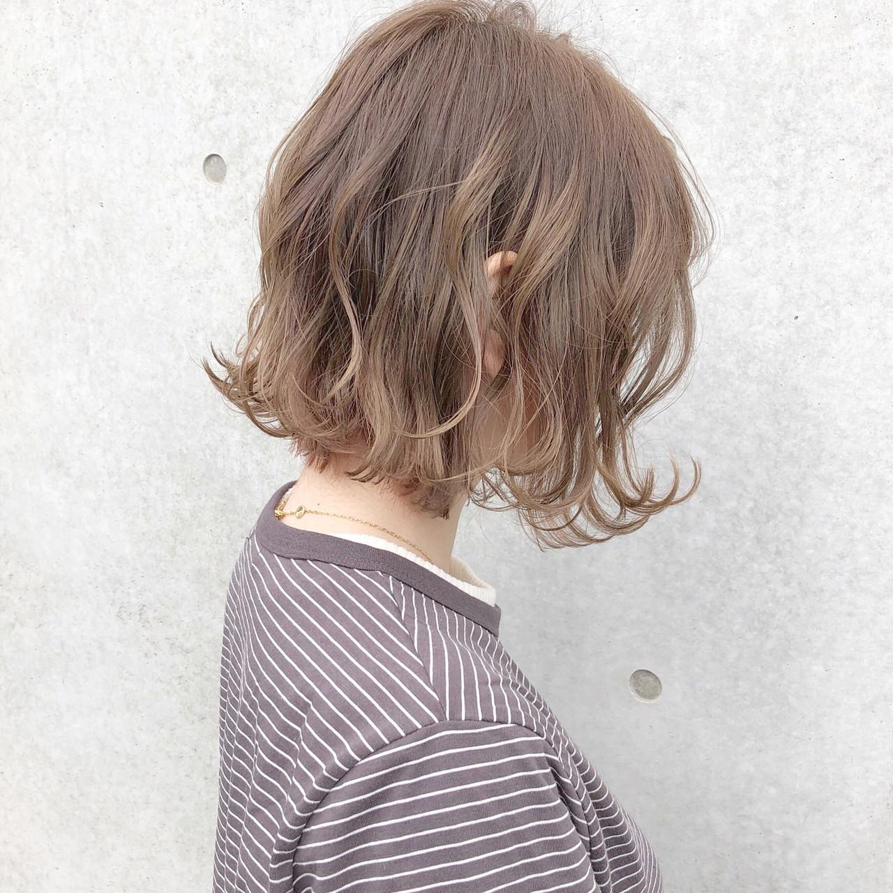 ボブ オフィス デート ナチュラル ヘアスタイルや髪型の写真・画像