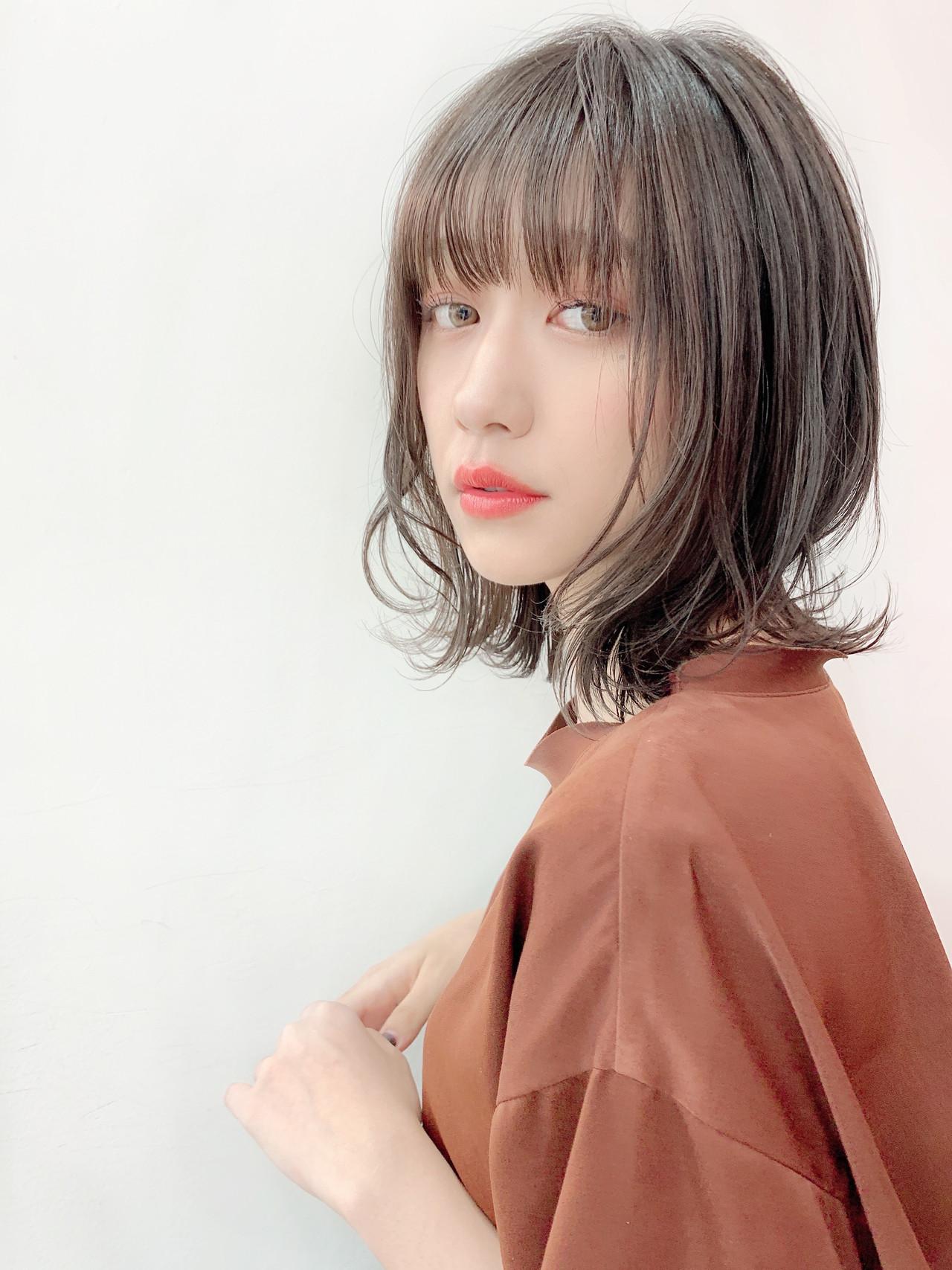 ミディアム ミディアムヘアー 簡単ヘアアレンジ 鎖骨ミディアム ヘアスタイルや髪型の写真・画像