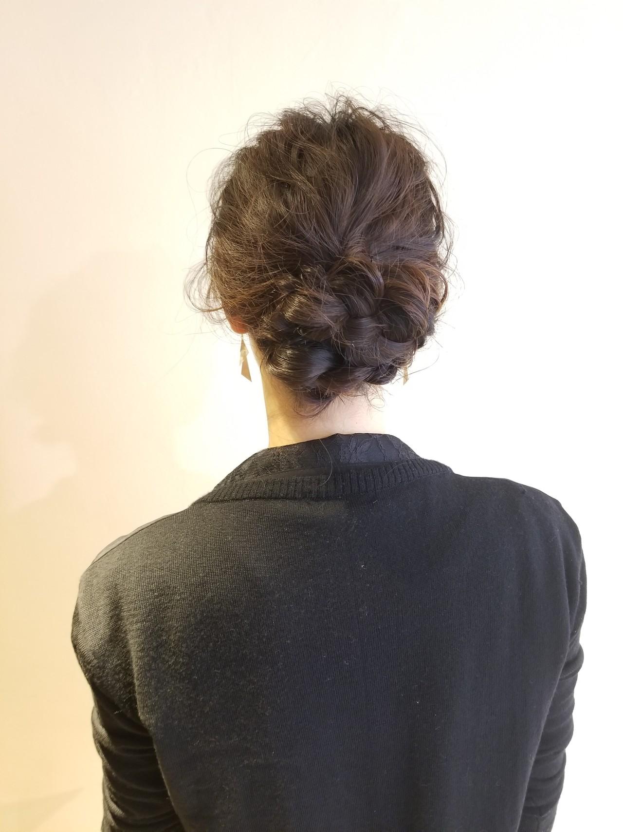 セミロング 結婚式 エレガント 結婚式ヘアアレンジ ヘアスタイルや髪型の写真・画像