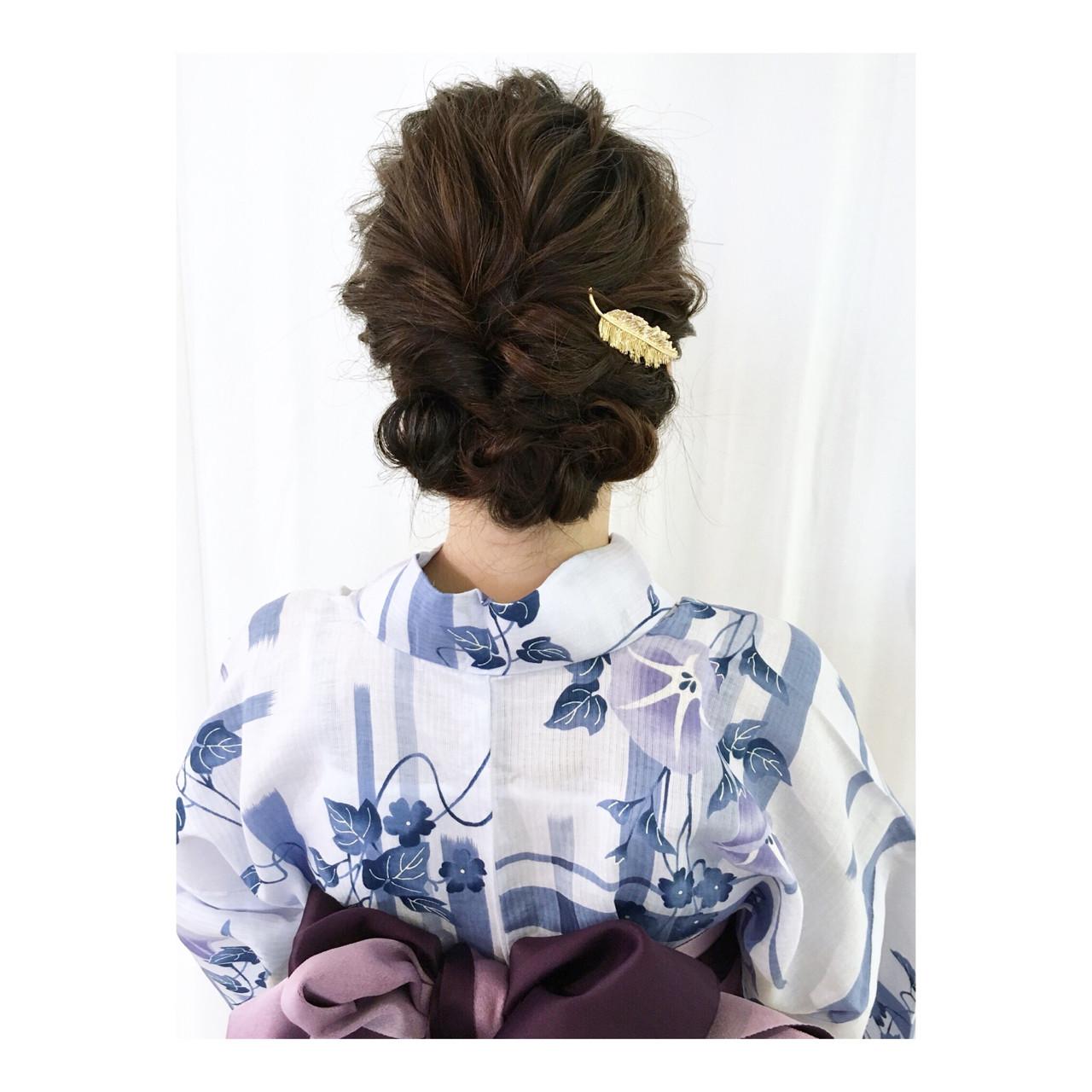 花火大会 ミディアム ヘアアレンジ 夏 ヘアスタイルや髪型の写真・画像   Yumi Hiramatsu / Sourire Imaizumi【スーリール イマイズミ】