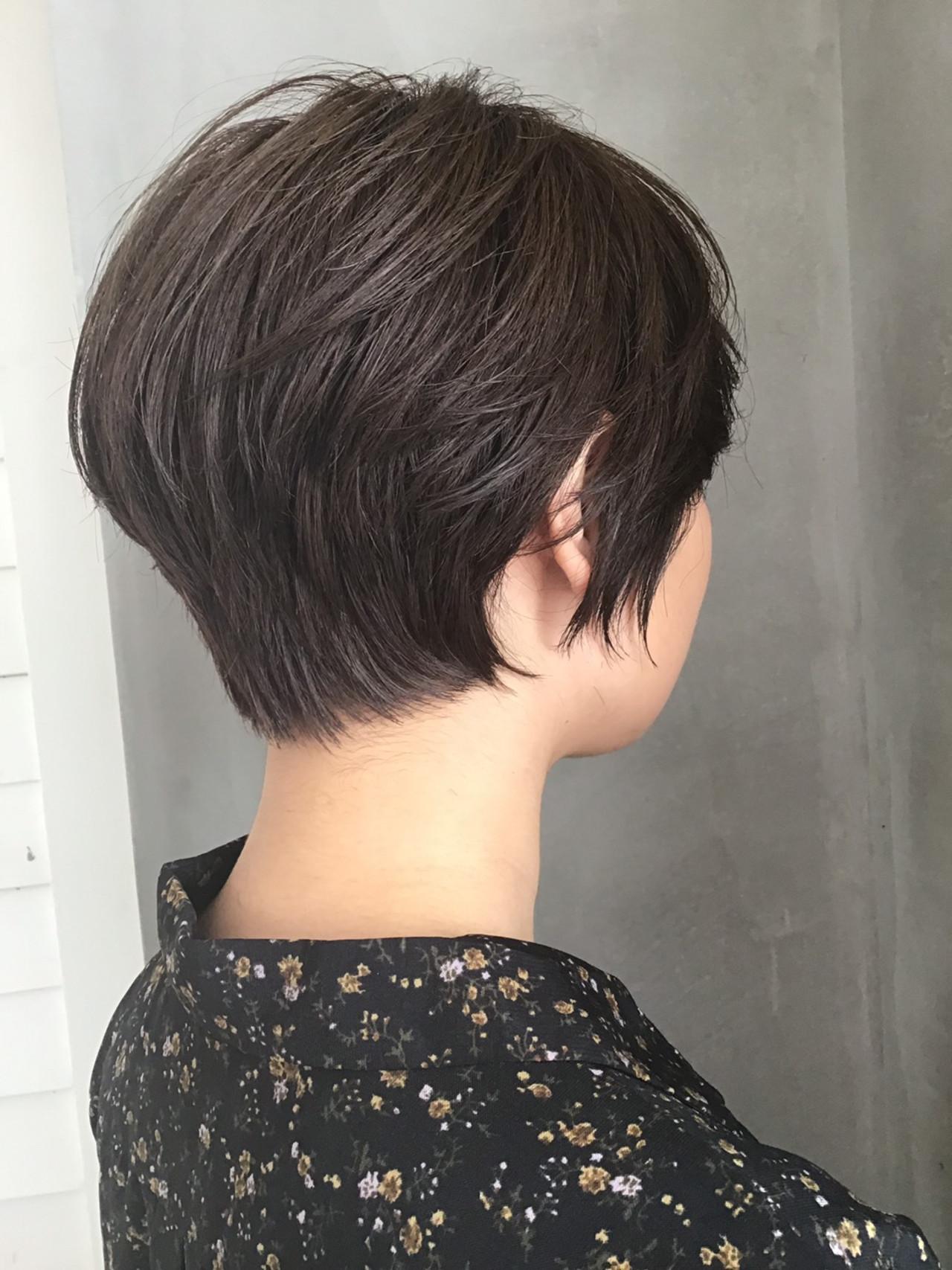 ナチュラル ショート デート ショートヘア ヘアスタイルや髪型の写真・画像 | 佐野カズト / adept 綾瀬店