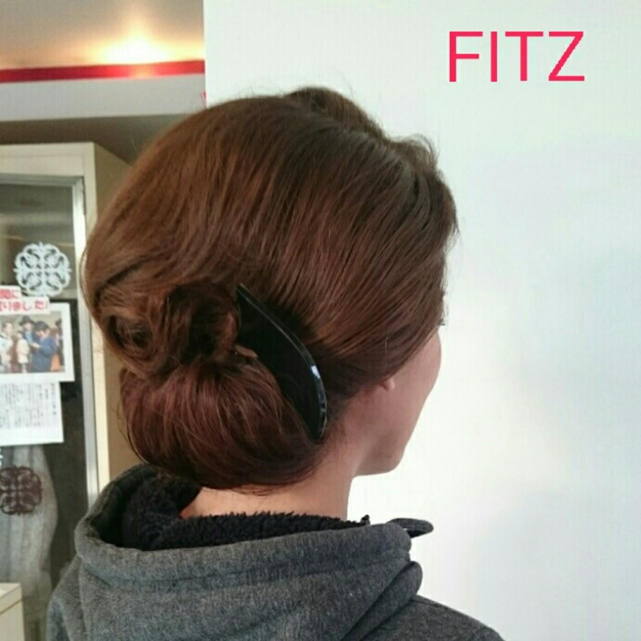 ブライダル 和装 ミディアム 着物 ヘアスタイルや髪型の写真・画像 | 美和遥 FITZ(フィッツ) / 富士美容院 FITZ (フィッツ)