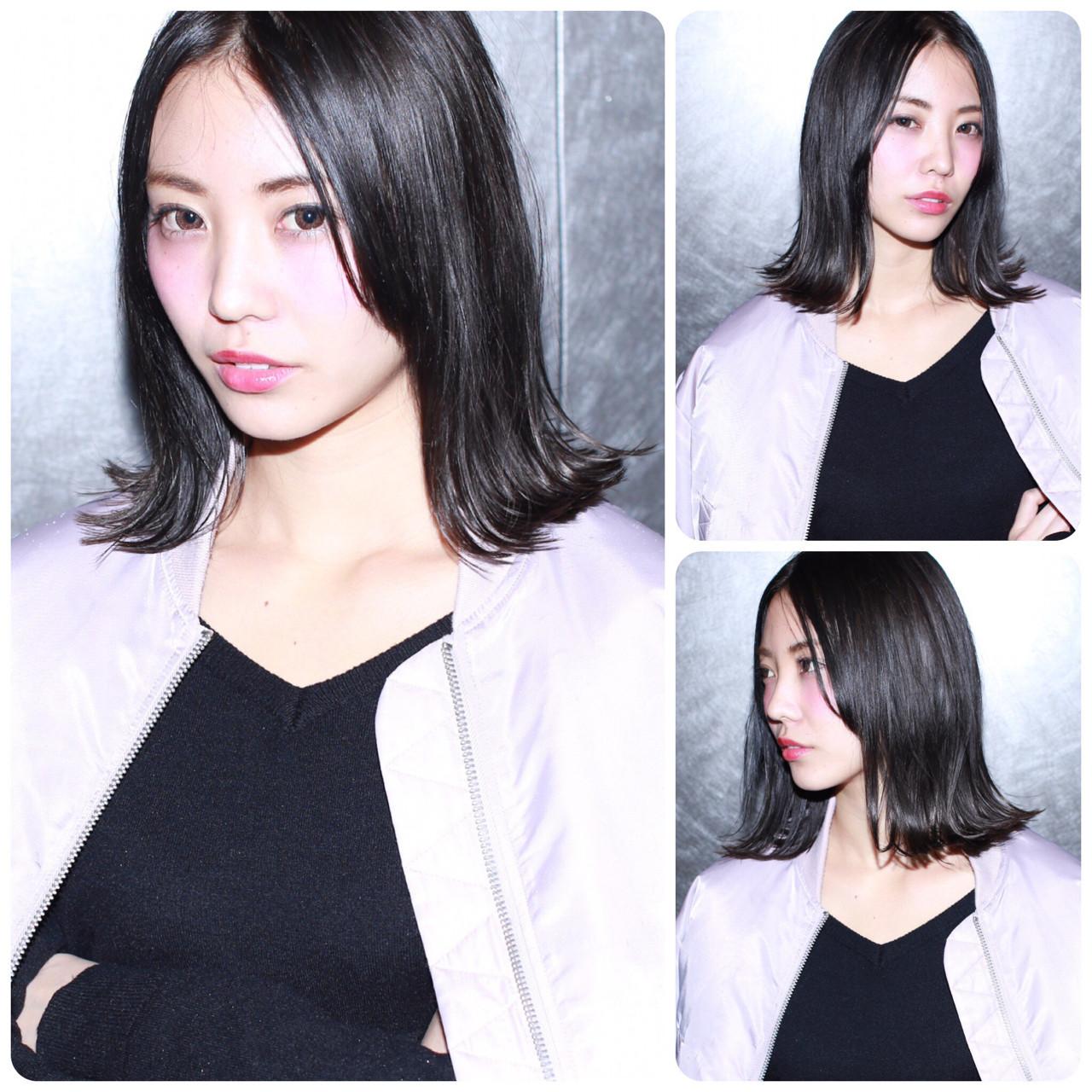 カーキ ガーリー 色気 黒髪 ヘアスタイルや髪型の写真・画像
