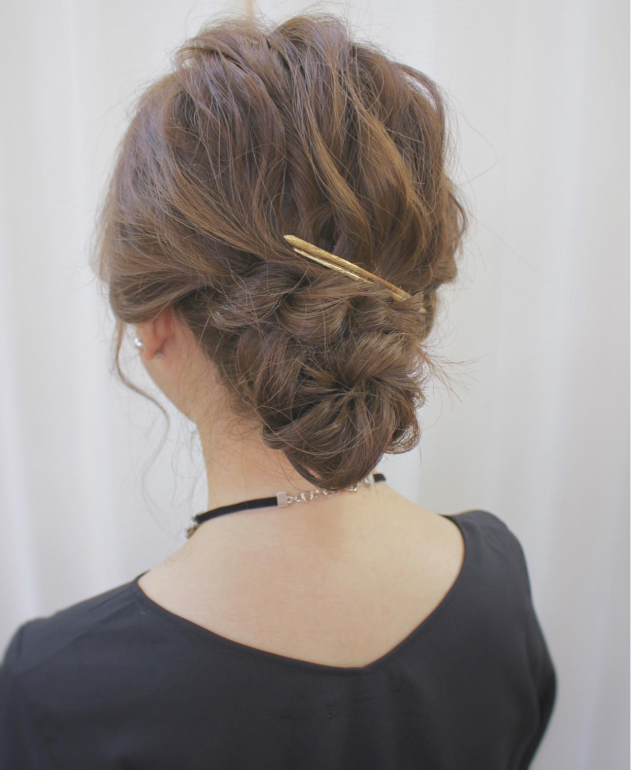 ミディアム ヘアアレンジ 結婚式 大人女子 ヘアスタイルや髪型の写真・画像   サワ / Seamu