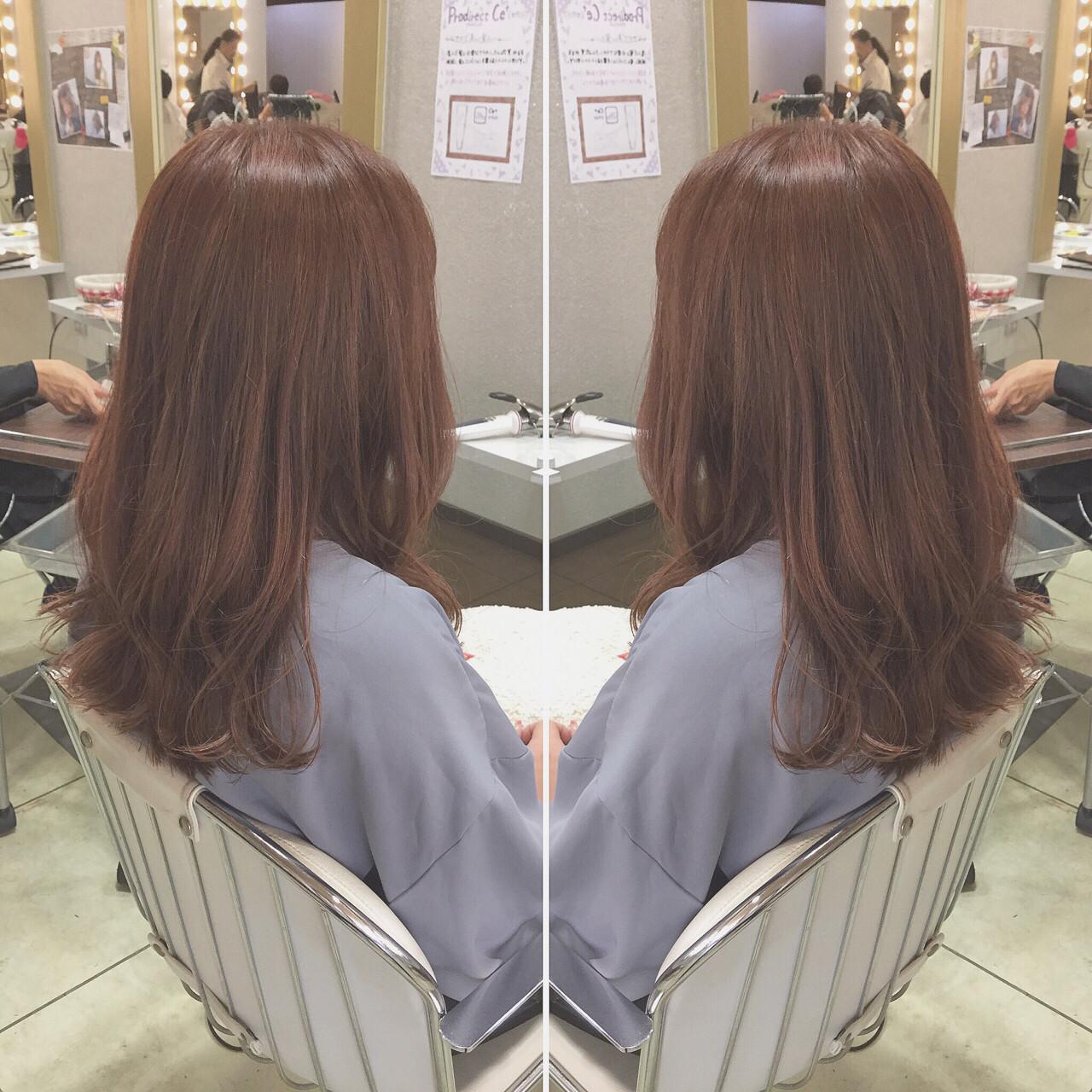 ゆるふわ ピンク 大人かわいい ハイライト ヘアスタイルや髪型の写真・画像